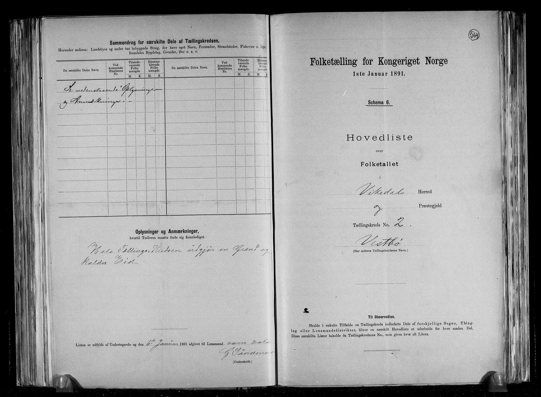 RA, Folketelling 1891 for 1157 Vikedal herred, 1891, s. 7