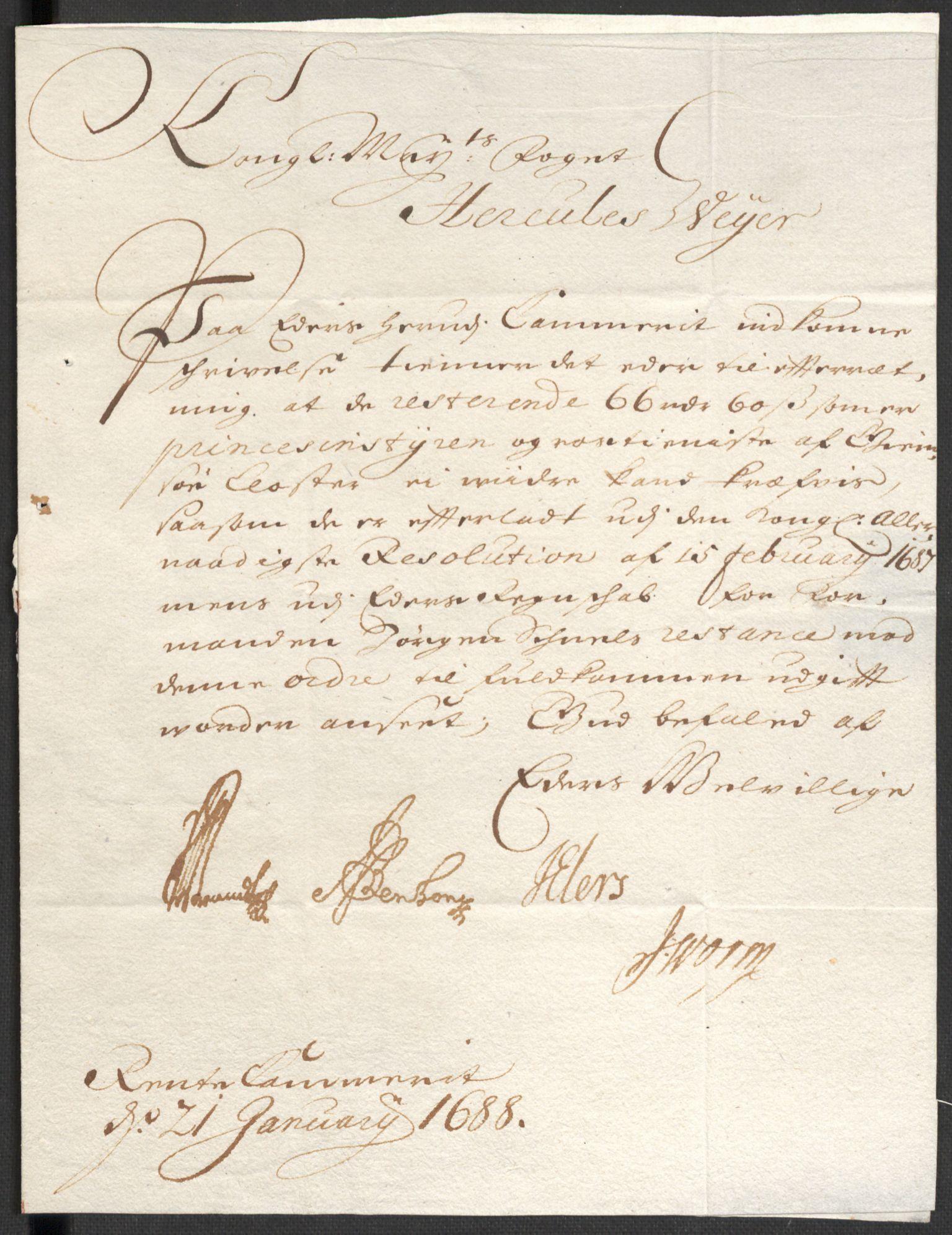 RA, Rentekammeret inntil 1814, Reviderte regnskaper, Fogderegnskap, R35/L2088: Fogderegnskap Øvre og Nedre Telemark, 1687-1689, s. 116