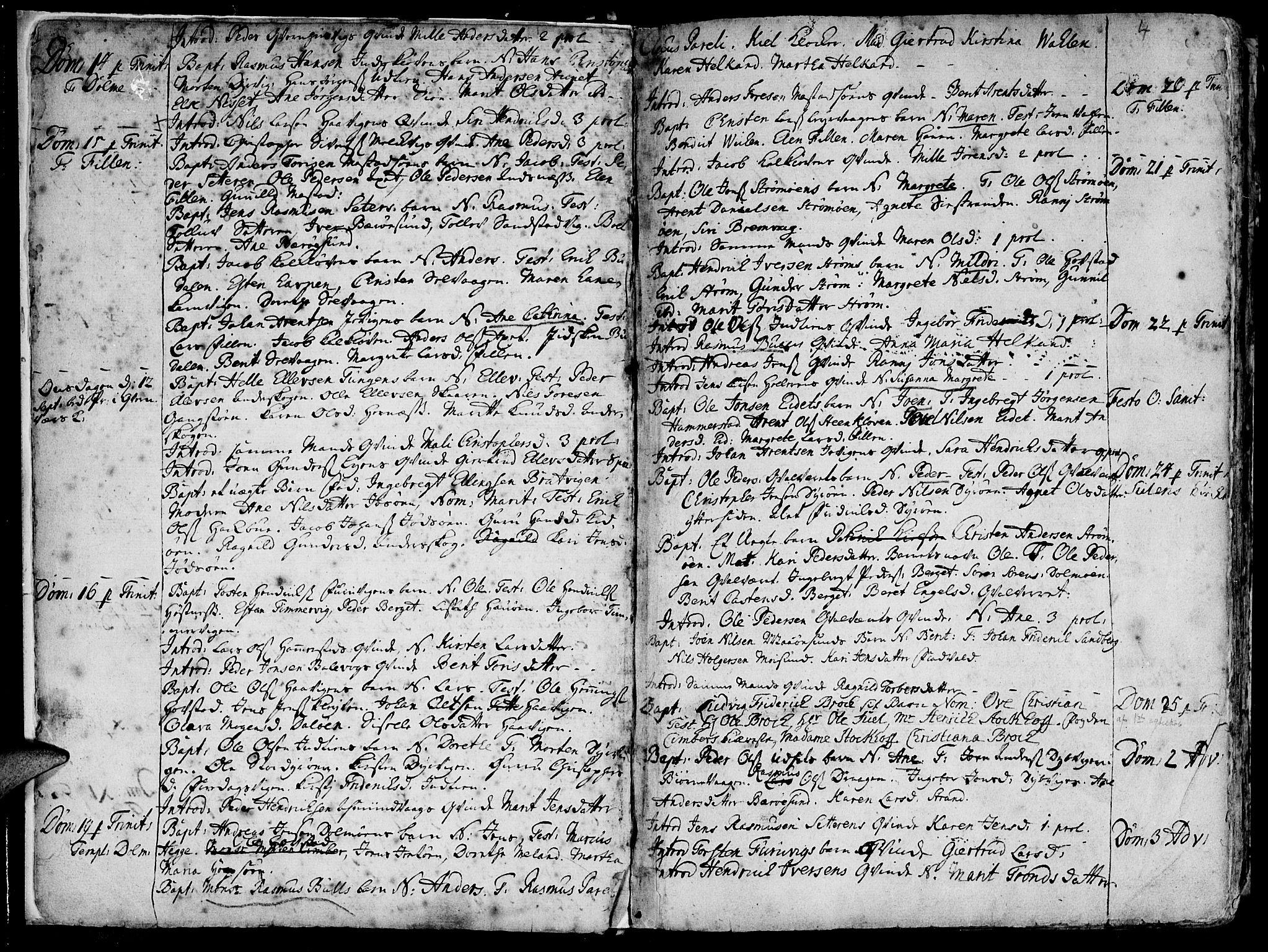 SAT, Ministerialprotokoller, klokkerbøker og fødselsregistre - Sør-Trøndelag, 634/L0525: Ministerialbok nr. 634A01, 1736-1775, s. 4