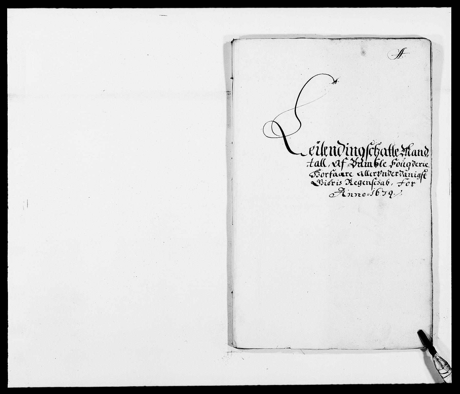 RA, Rentekammeret inntil 1814, Reviderte regnskaper, Fogderegnskap, R34/L2044: Fogderegnskap Bamble, 1678-1679, s. 237
