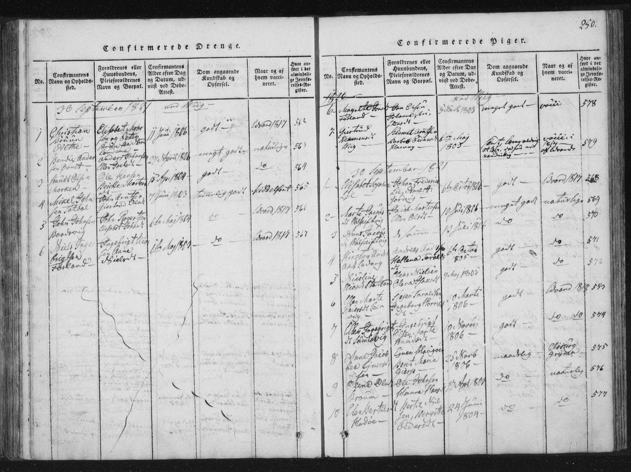 SAT, Ministerialprotokoller, klokkerbøker og fødselsregistre - Nord-Trøndelag, 773/L0609: Ministerialbok nr. 773A03 /2, 1815-1830, s. 250