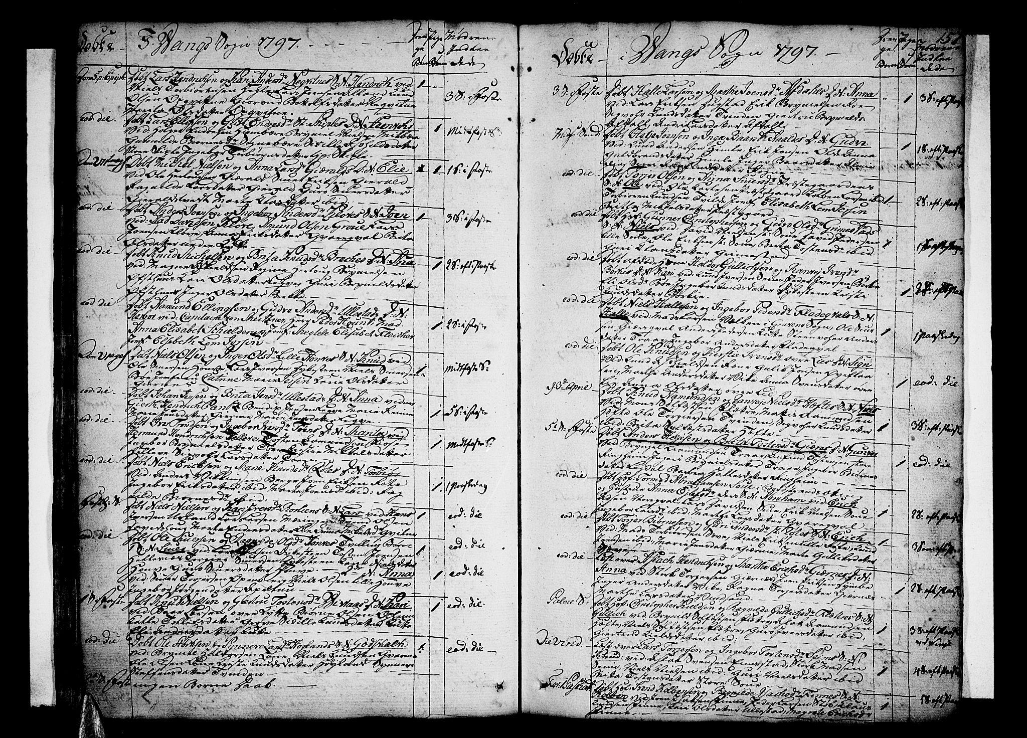 SAB, Voss Sokneprestembete, H/Haa: Ministerialbok nr. A 9, 1780-1810, s. 157