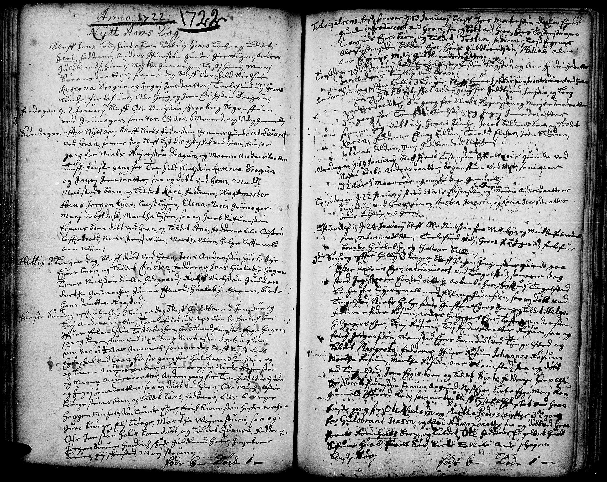 SAH, Gran prestekontor, Ministerialbok nr. 1, 1707-1731, s. 135