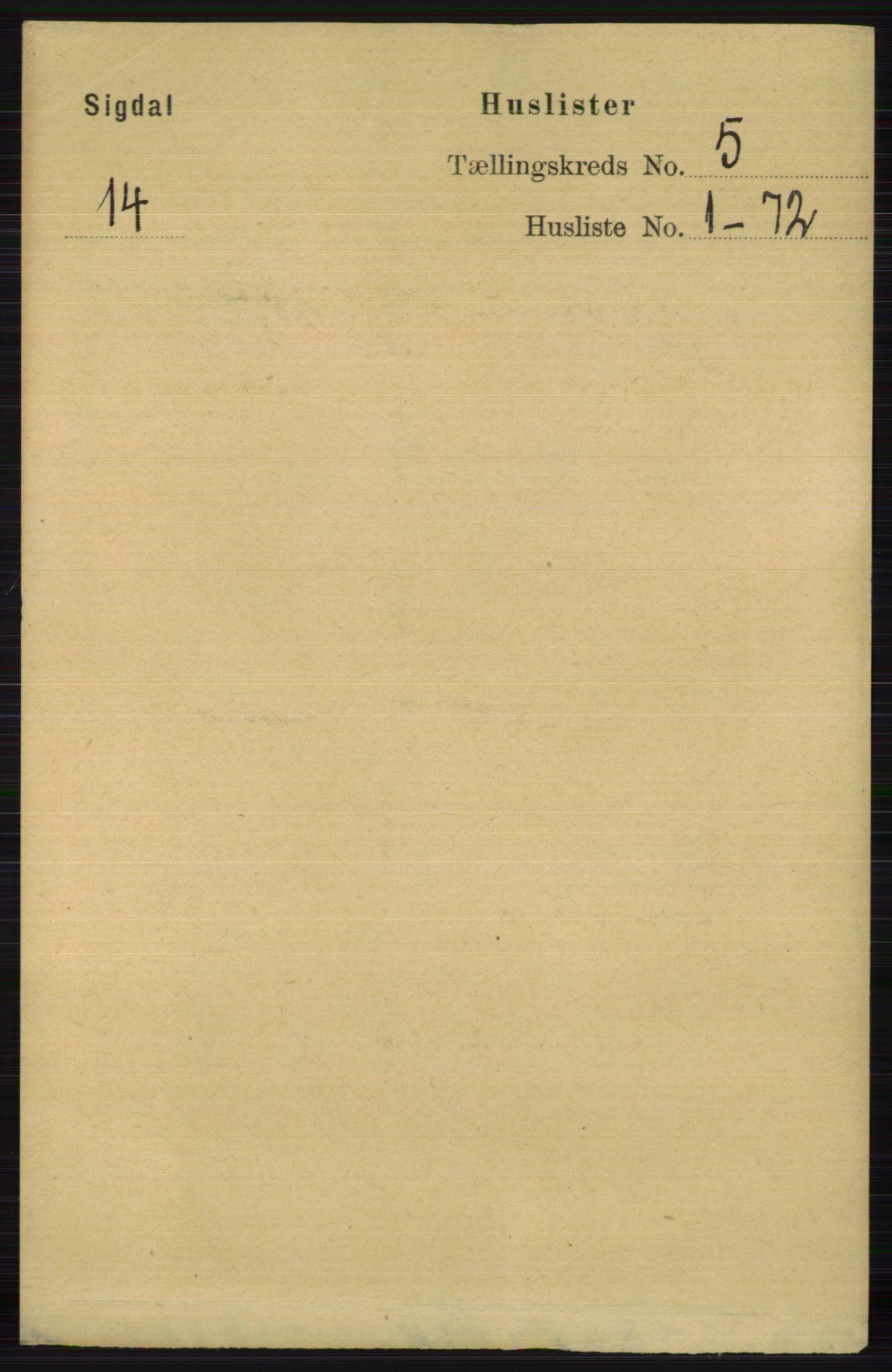 RA, Folketelling 1891 for 0621 Sigdal herred, 1891, s. 1848