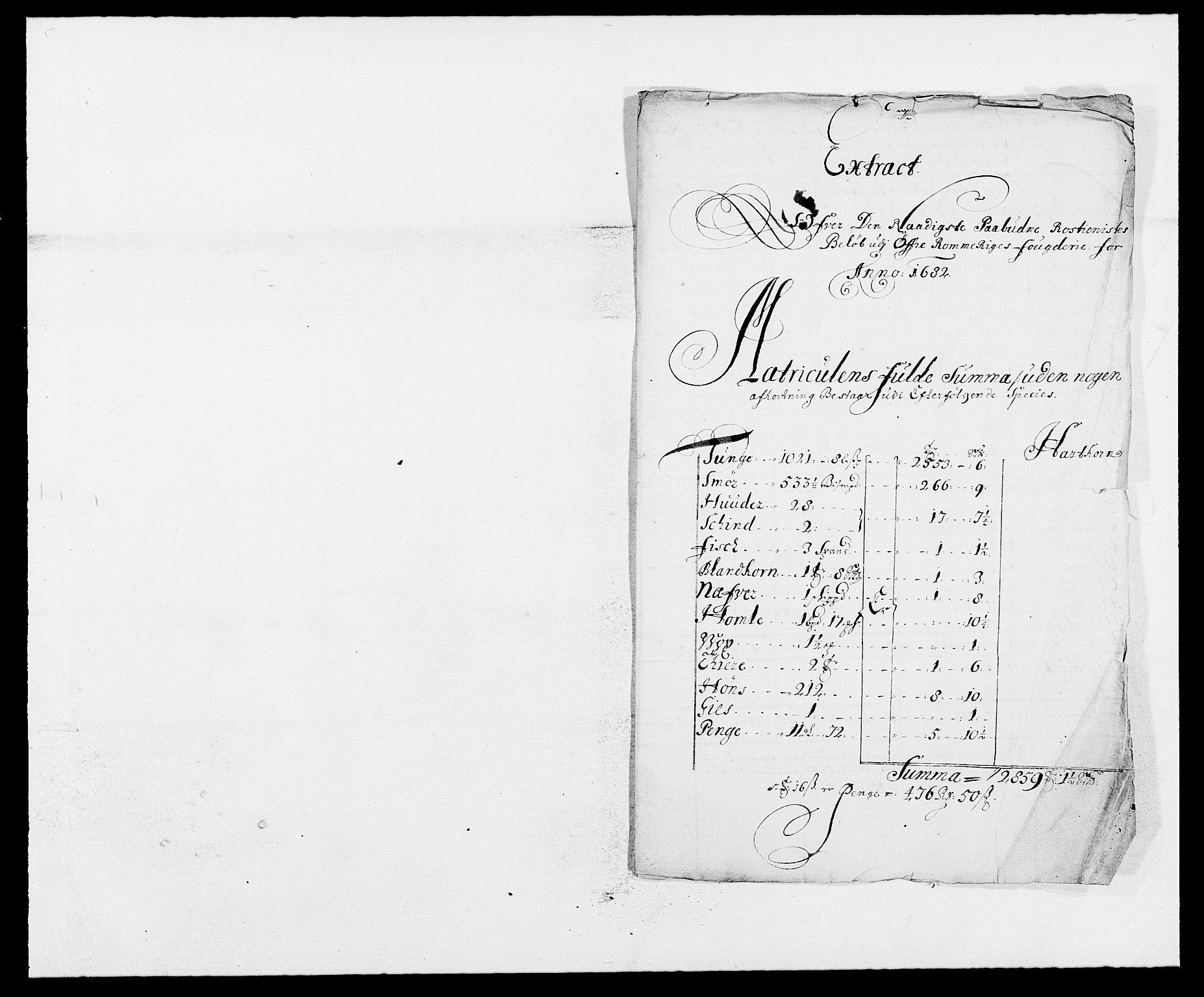 RA, Rentekammeret inntil 1814, Reviderte regnskaper, Fogderegnskap, R12/L0697: Fogderegnskap Øvre Romerike, 1682-1683, s. 217