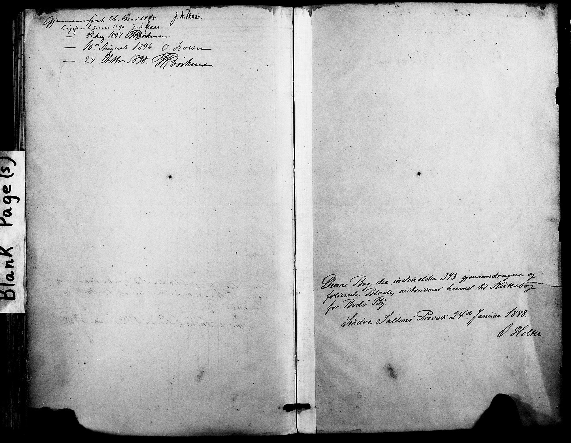 SAT, Ministerialprotokoller, klokkerbøker og fødselsregistre - Nordland, 801/L0010: Ministerialbok nr. 801A10, 1888-1899
