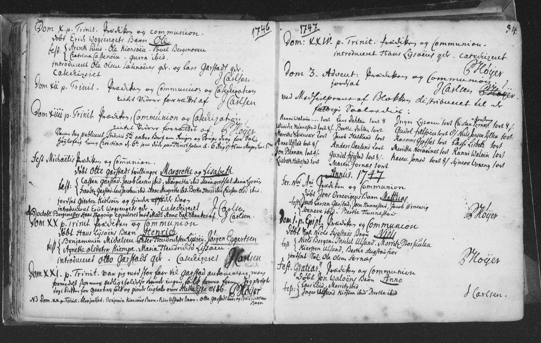 SAT, Ministerialprotokoller, klokkerbøker og fødselsregistre - Nord-Trøndelag, 786/L0685: Ministerialbok nr. 786A01, 1710-1798, s. 84