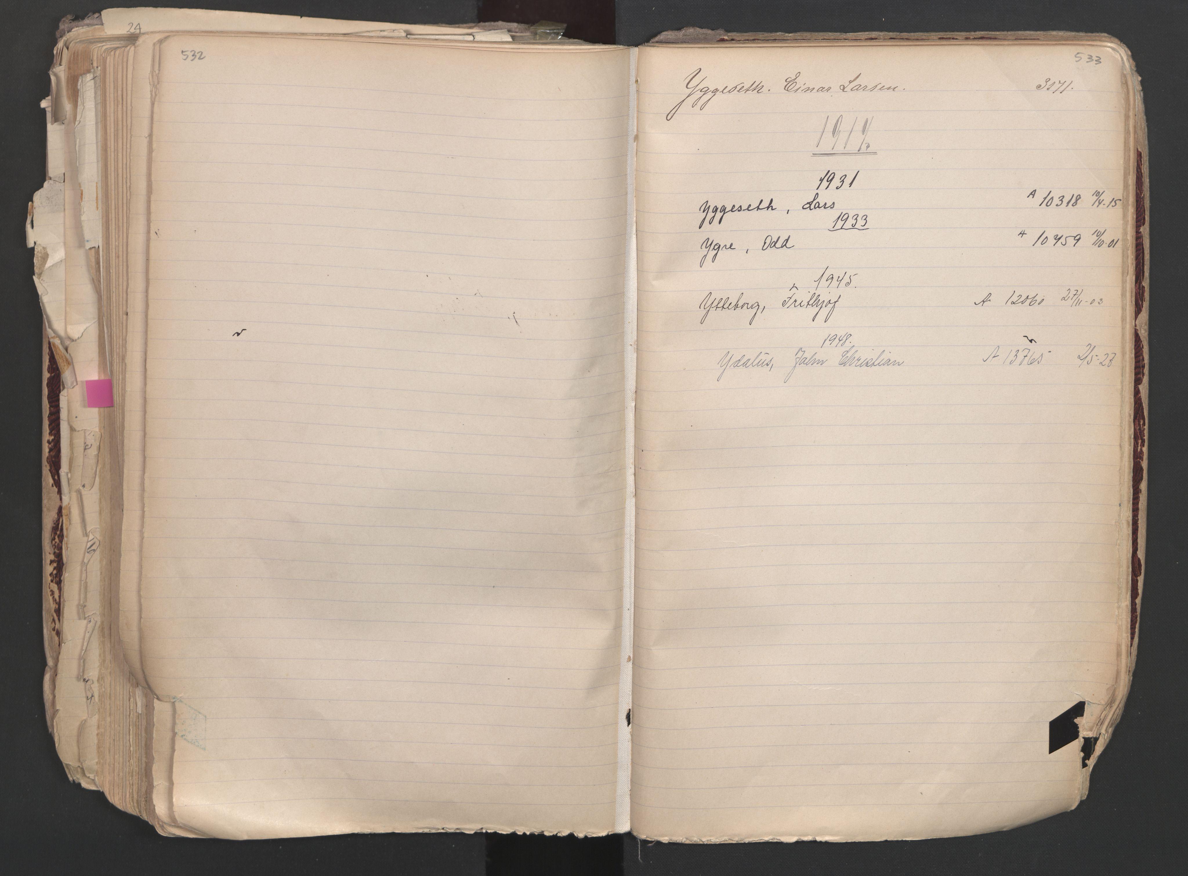 SAO, Oslo sjømannskontor, F/Fa/L0003: Register for Oslo mønstringskrets, 1891-1948, s. 532-533