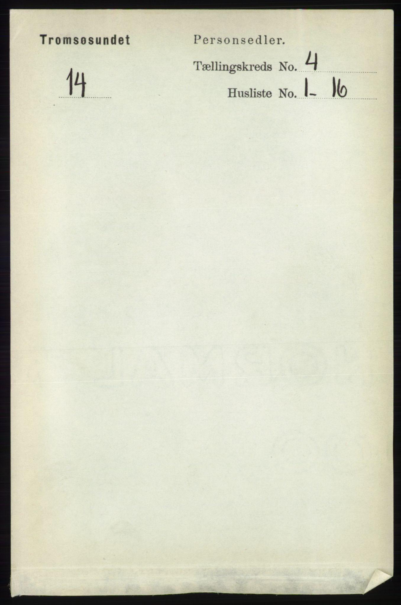 RA, Folketelling 1891 for 1934 Tromsøysund herred, 1891, s. 1547