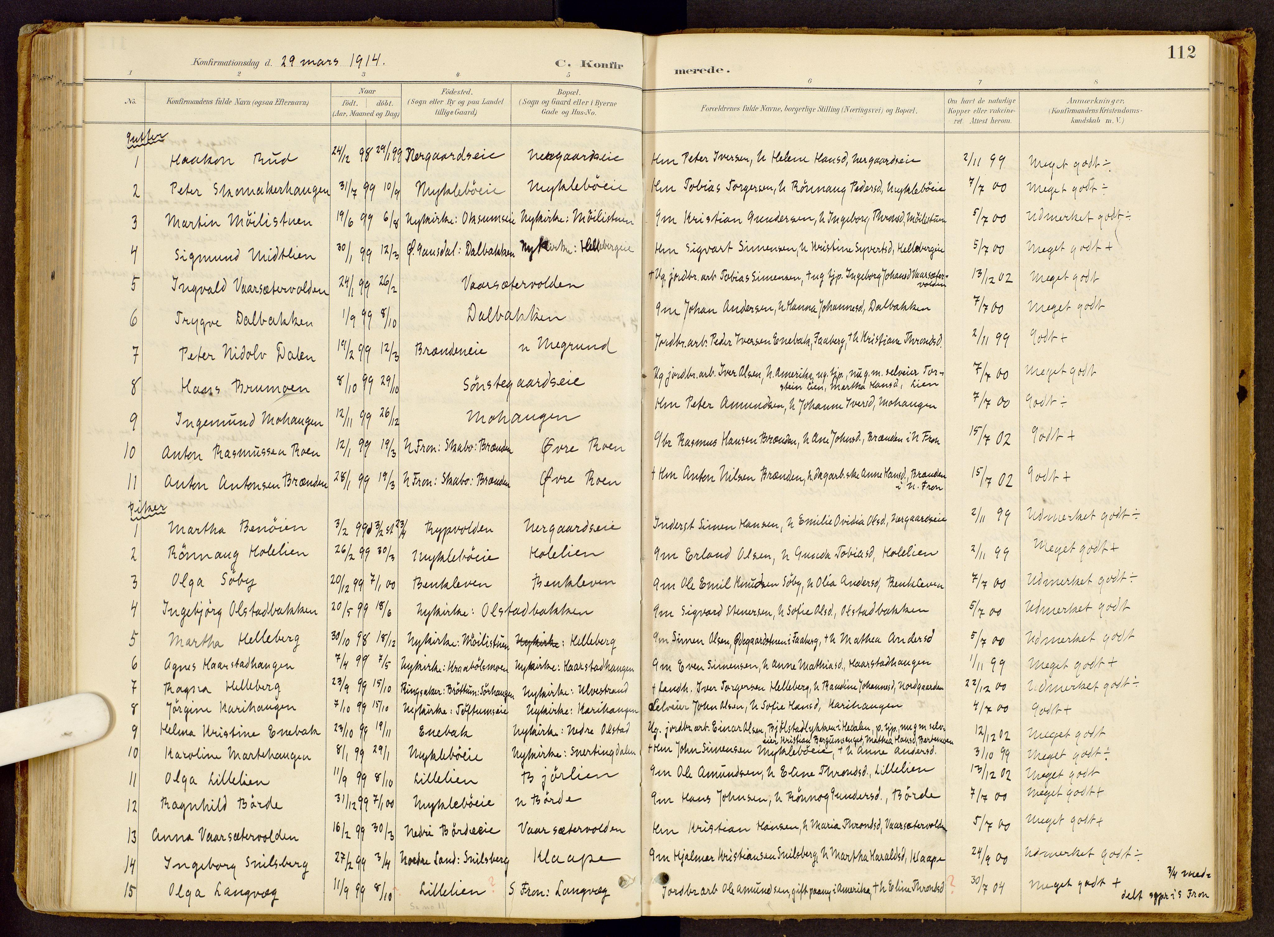 SAH, Vestre Gausdal prestekontor, Ministerialbok nr. 2, 1887-1918, s. 112