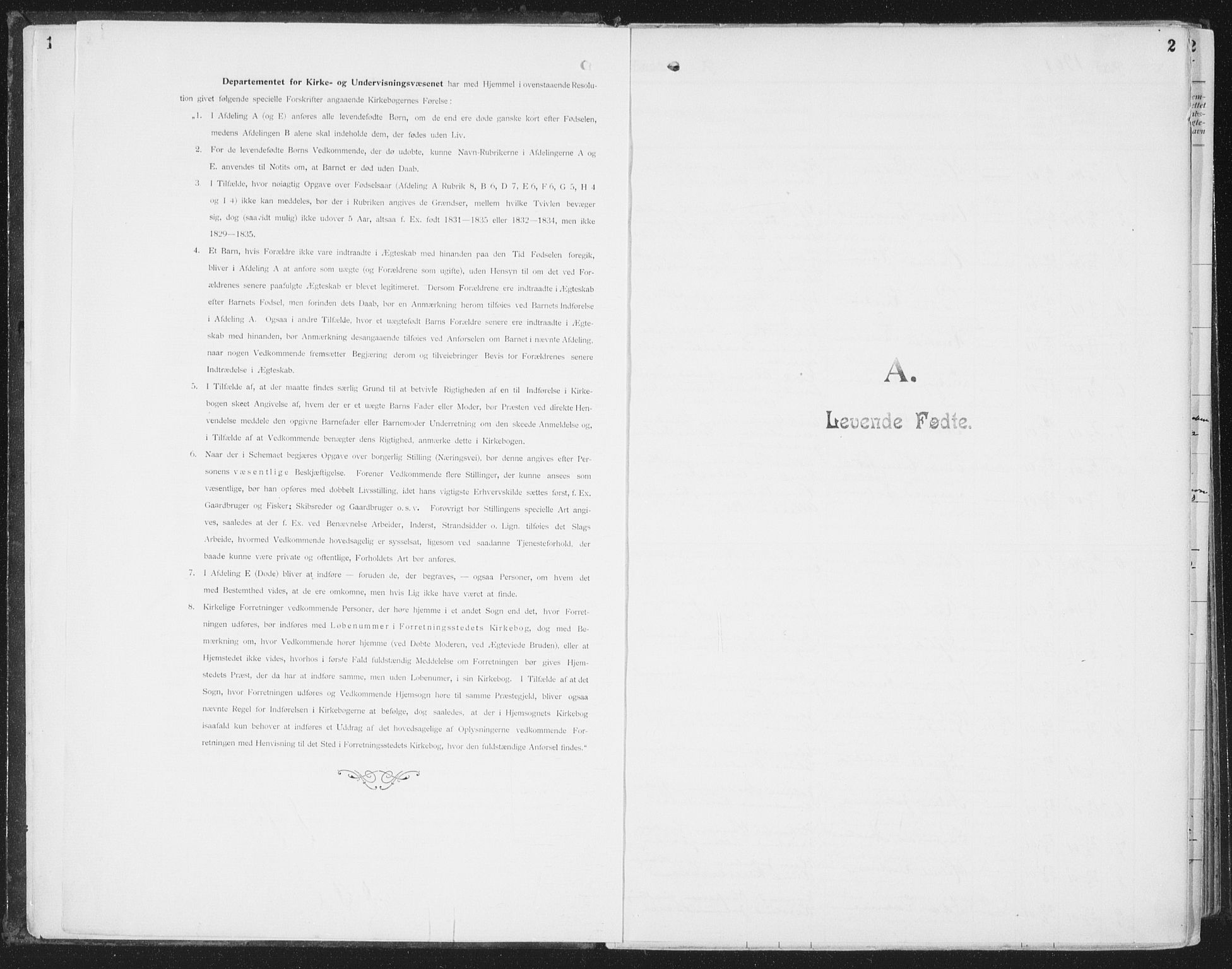 SAT, Ministerialprotokoller, klokkerbøker og fødselsregistre - Nordland, 804/L0081: Ministerialbok nr. 804A02, 1901-1915, s. 2