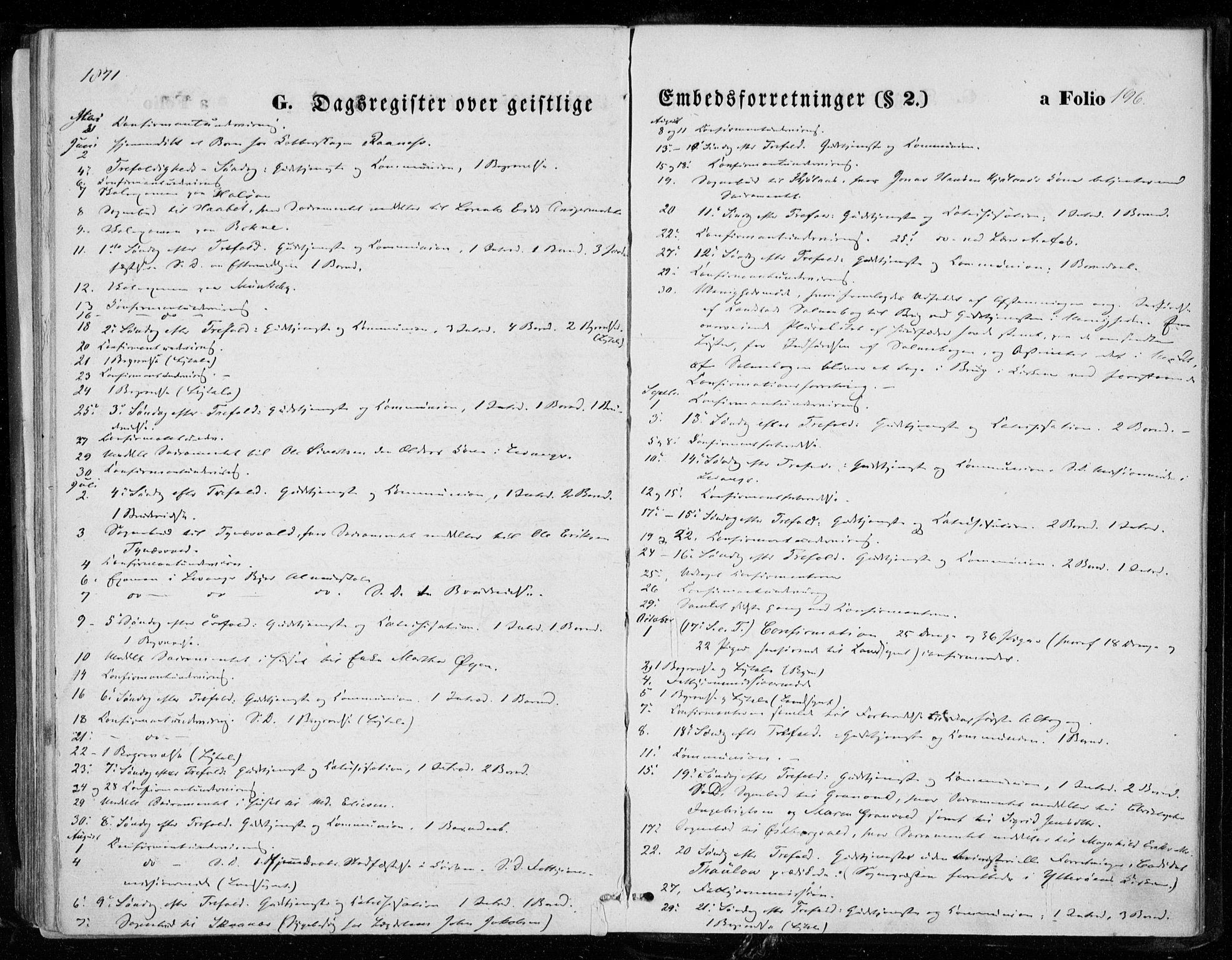 SAT, Ministerialprotokoller, klokkerbøker og fødselsregistre - Nord-Trøndelag, 721/L0206: Ministerialbok nr. 721A01, 1864-1874, s. 196