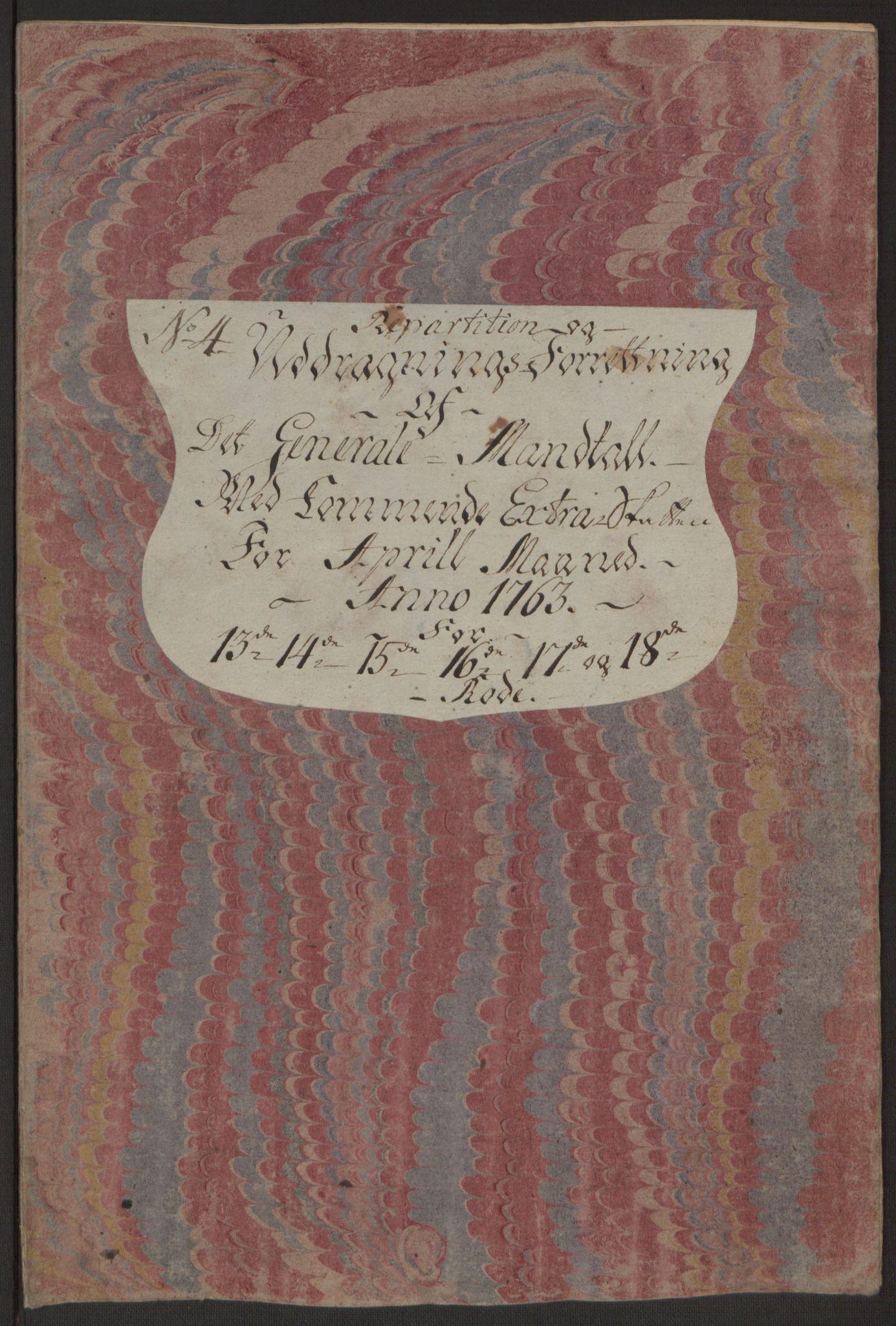RA, Rentekammeret inntil 1814, Reviderte regnskaper, Byregnskaper, R/Rp/L0366: [P20] Kontribusjonsregnskap, 1763, s. 216