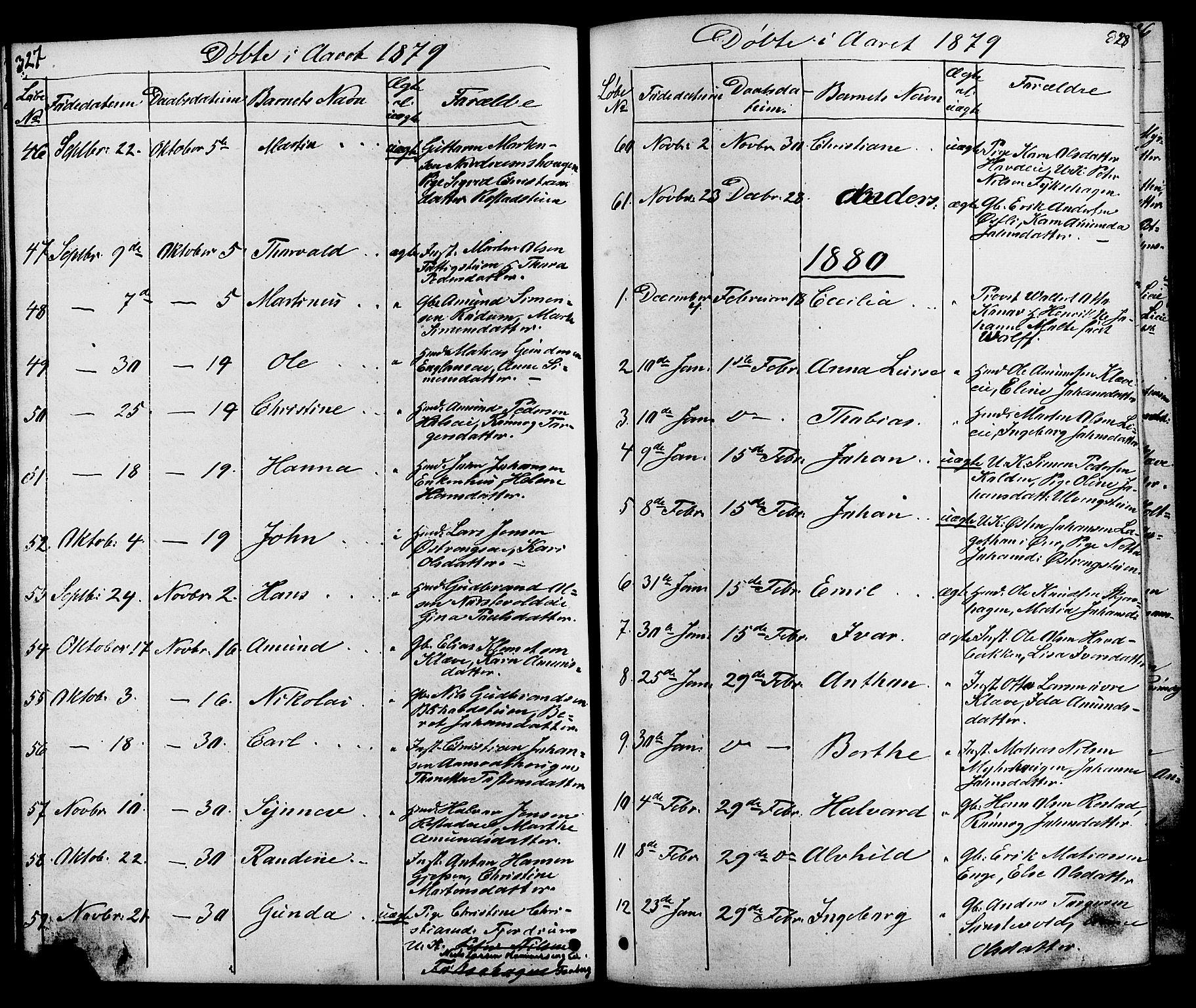 SAH, Østre Gausdal prestekontor, Klokkerbok nr. 1, 1863-1893, s. 327-328