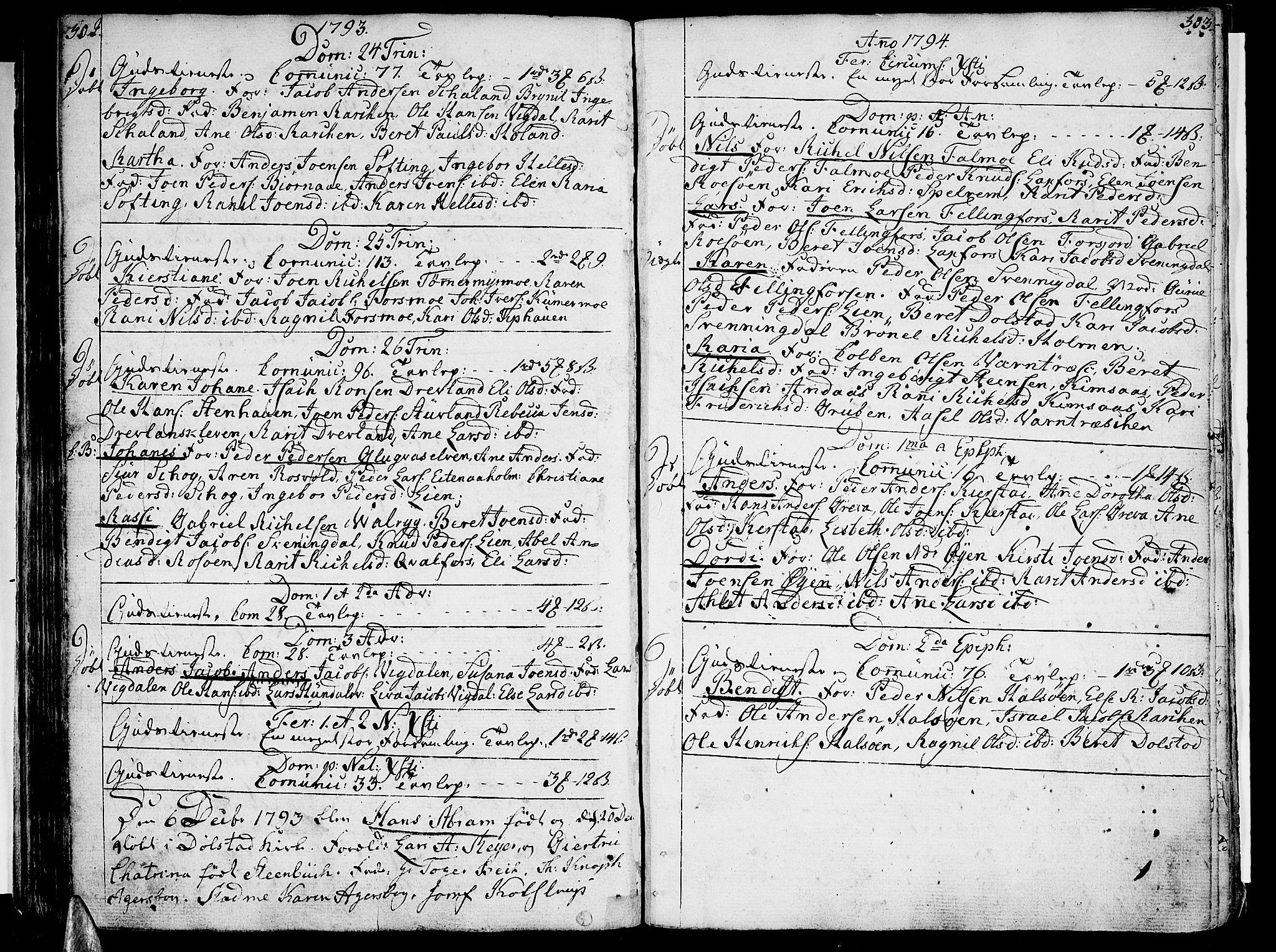 SAT, Ministerialprotokoller, klokkerbøker og fødselsregistre - Nordland, 820/L0286: Ministerialbok nr. 820A07, 1780-1799, s. 302-303