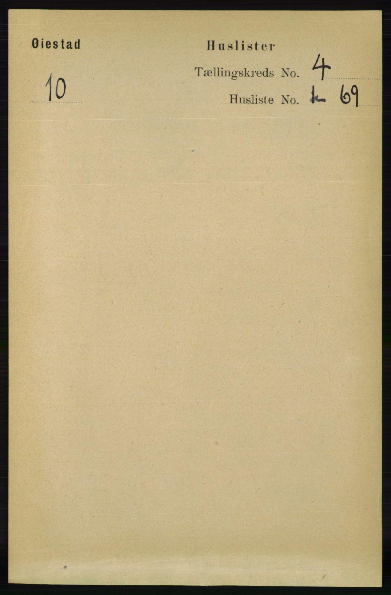RA, Folketelling 1891 for 0920 Øyestad herred, 1891, s. 1320