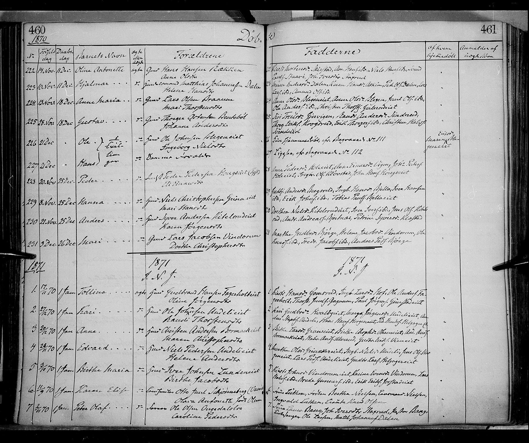 SAH, Gran prestekontor, Ministerialbok nr. 12, 1856-1874, s. 460-461
