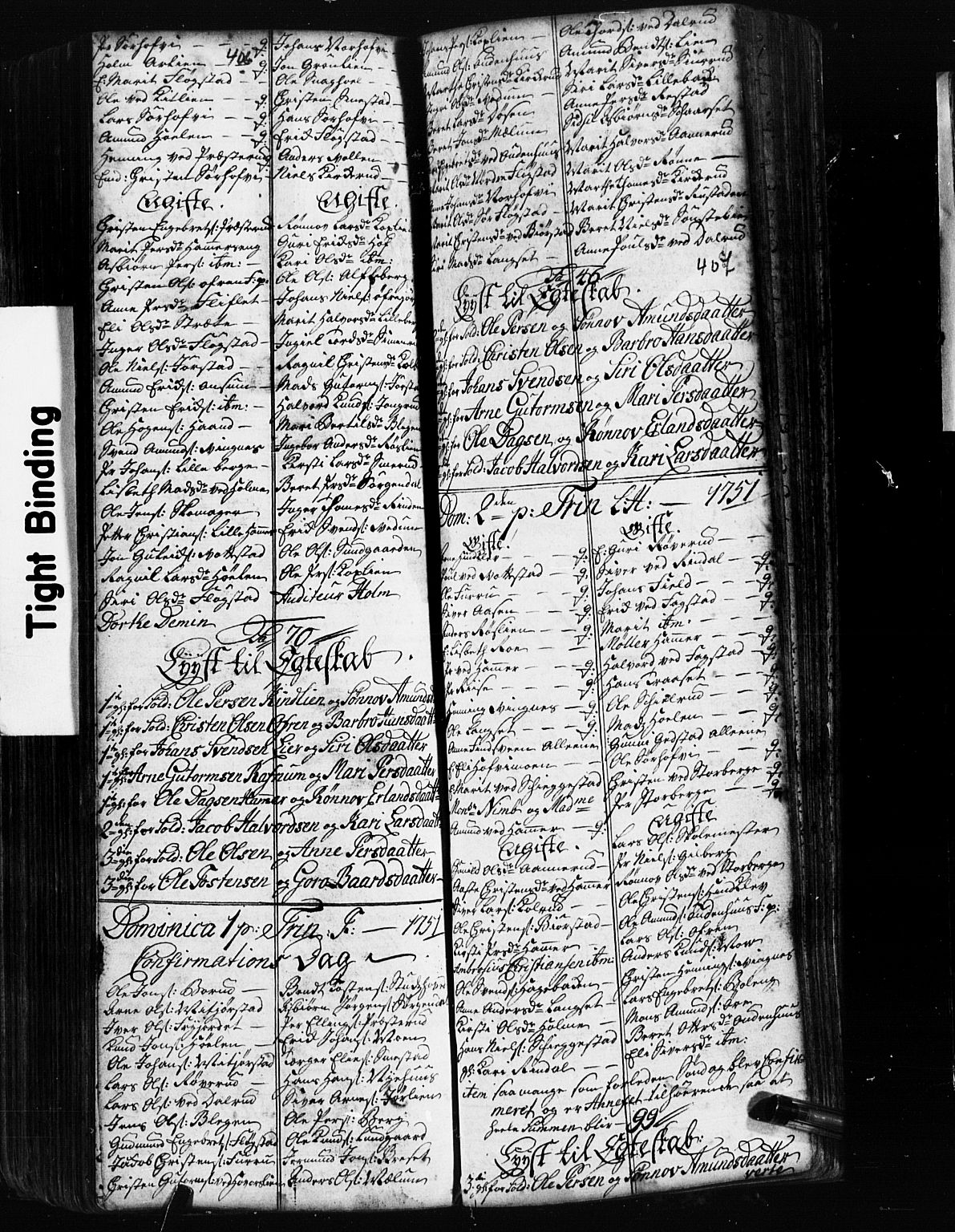 SAH, Fåberg prestekontor, Klokkerbok nr. 2, 1741-1756, s. 406-407