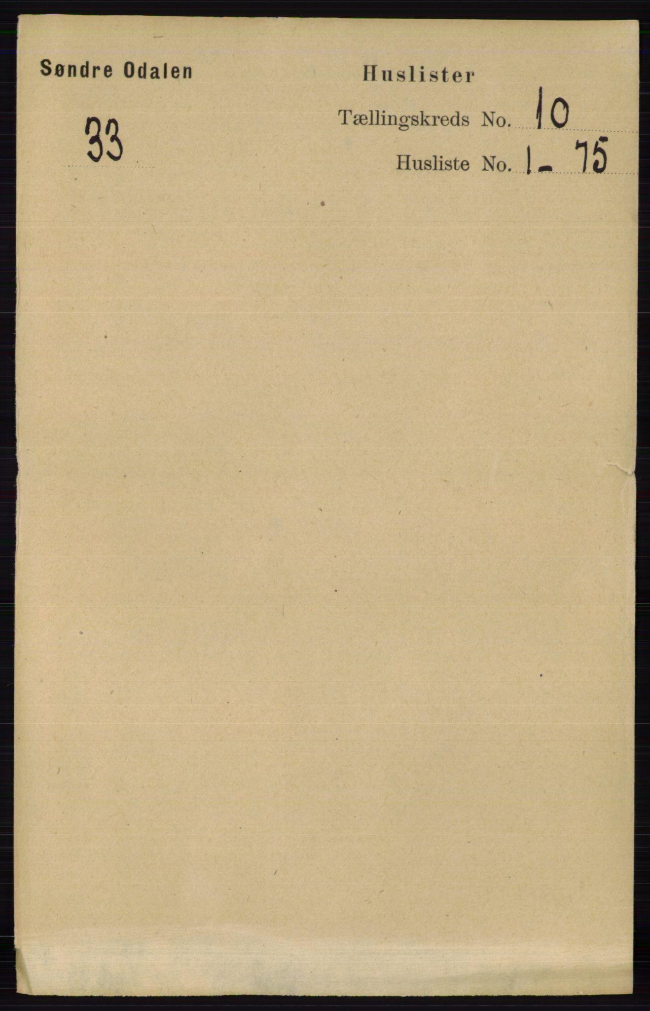 RA, Folketelling 1891 for 0419 Sør-Odal herred, 1891, s. 4280