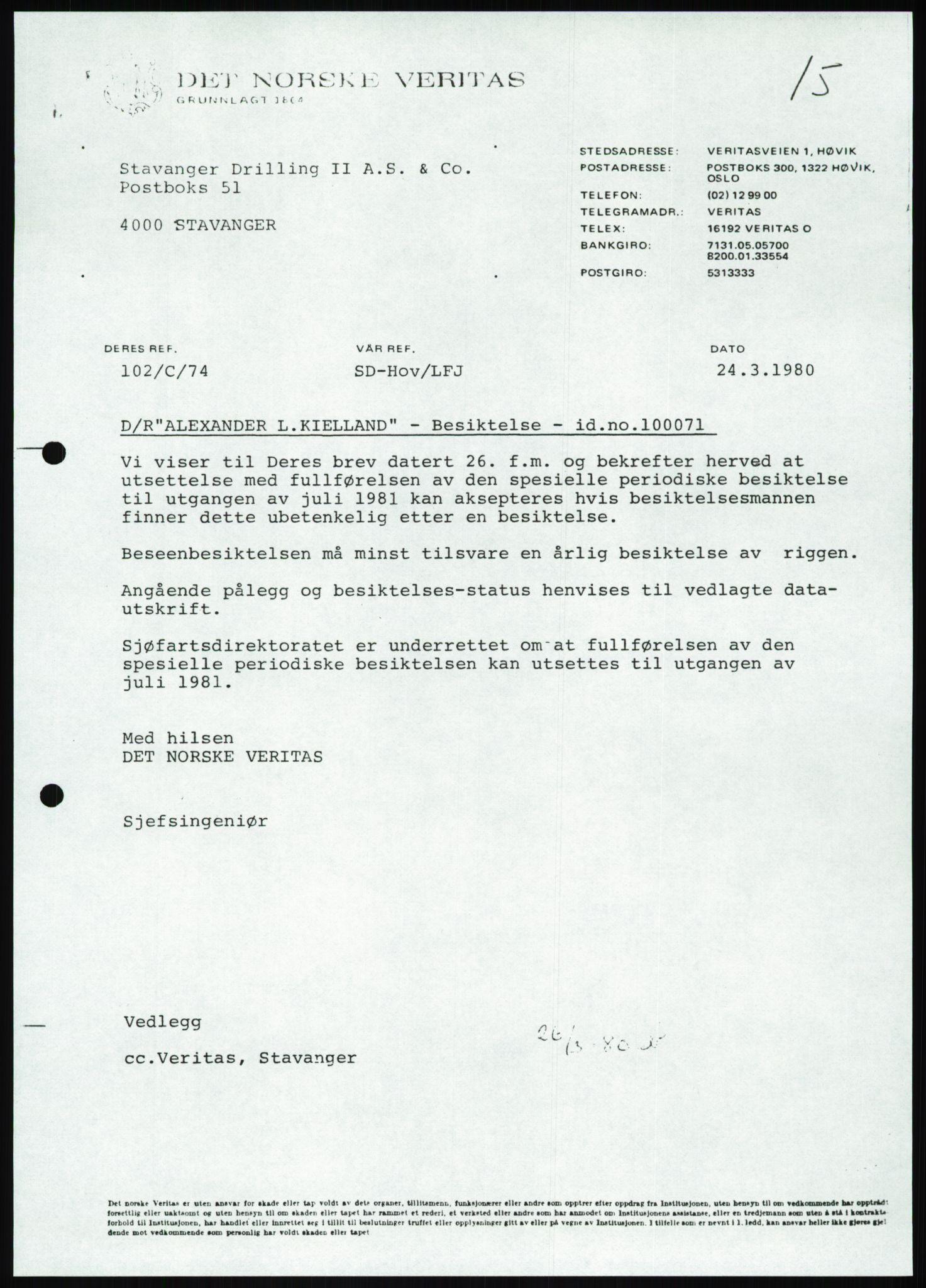 SAST, Pa 1503 - Stavanger Drilling AS, Da/L0001: Alexander L. Kielland - Begrensningssak Stavanger byrett, 1986, s. 884