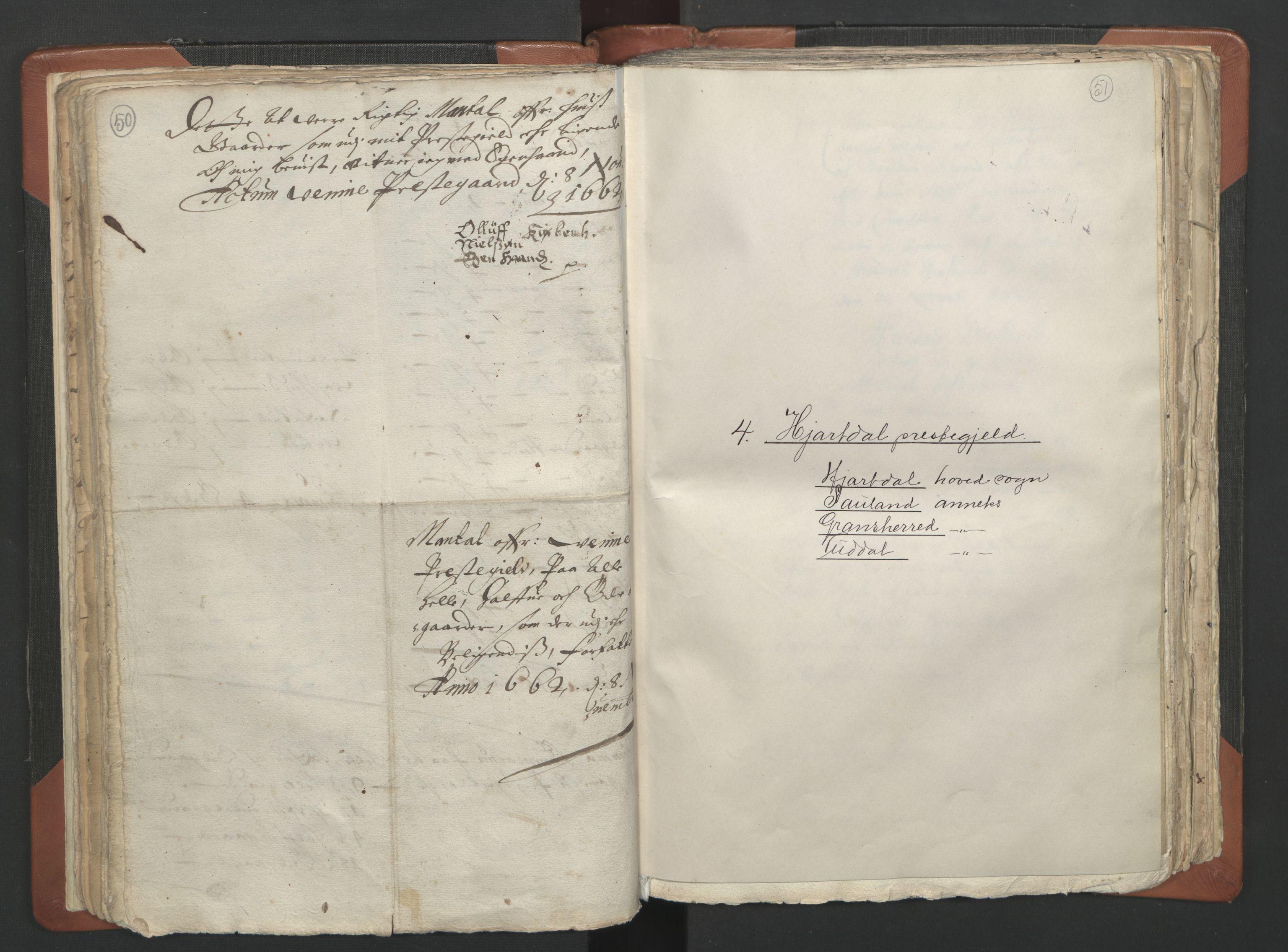 RA, Sogneprestenes manntall 1664-1666, nr. 12: Øvre Telemark prosti, Nedre Telemark prosti og Bamble prosti, 1664-1666, s. 50-51