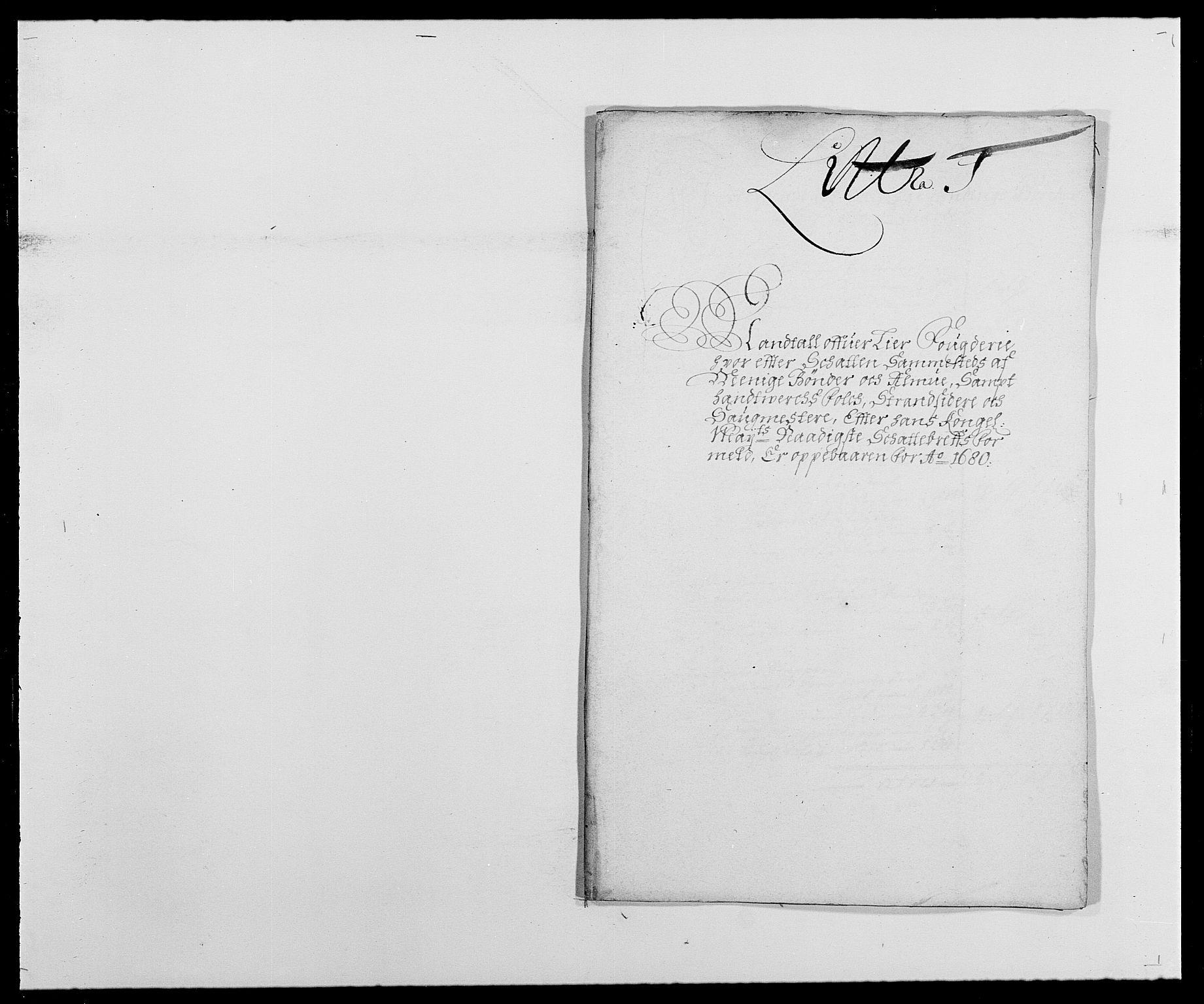 RA, Rentekammeret inntil 1814, Reviderte regnskaper, Fogderegnskap, R27/L1686: Fogderegnskap Lier, 1678-1686, s. 235