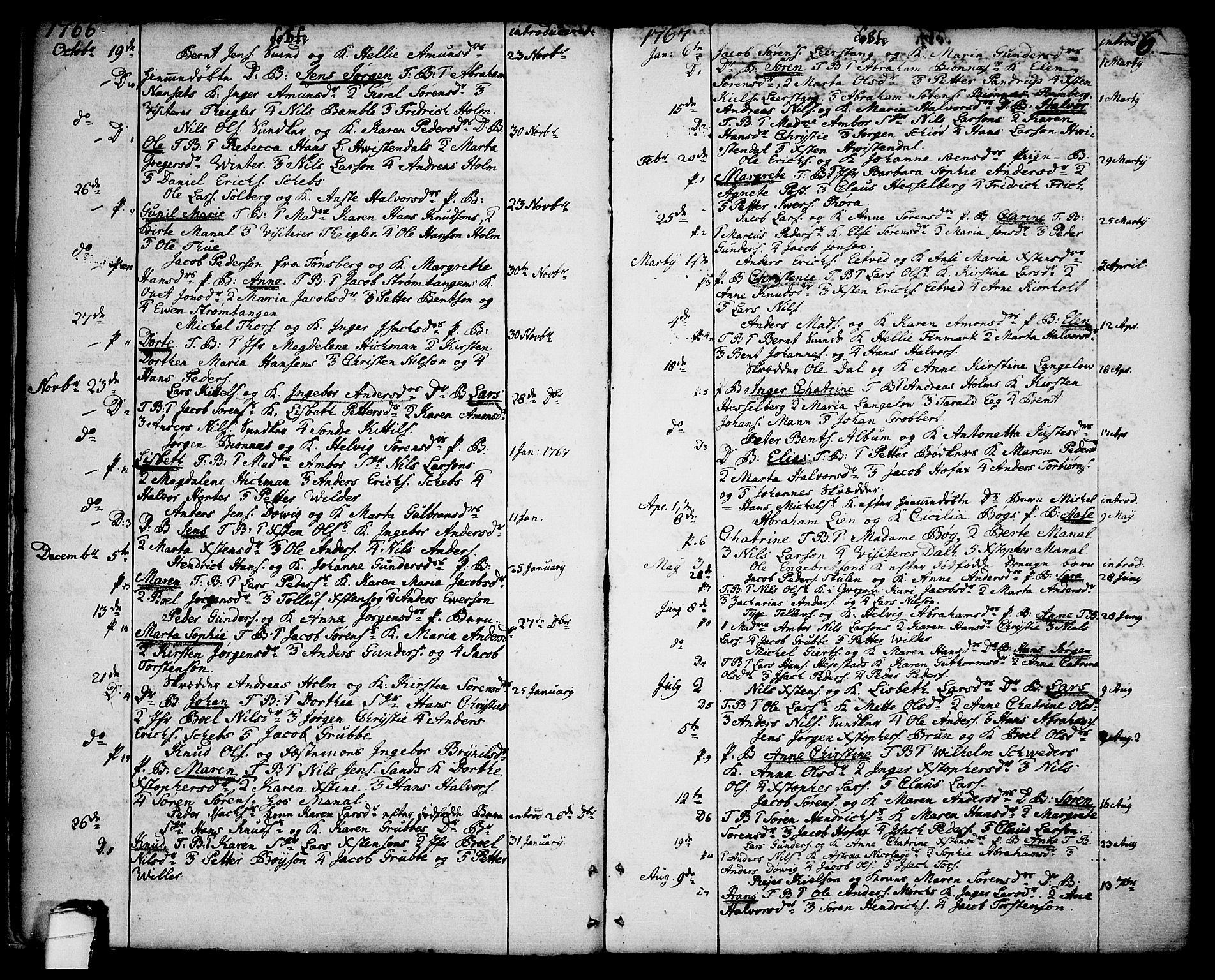 SAKO, Brevik kirkebøker, F/Fa/L0003: Ministerialbok nr. 3, 1764-1814, s. 6
