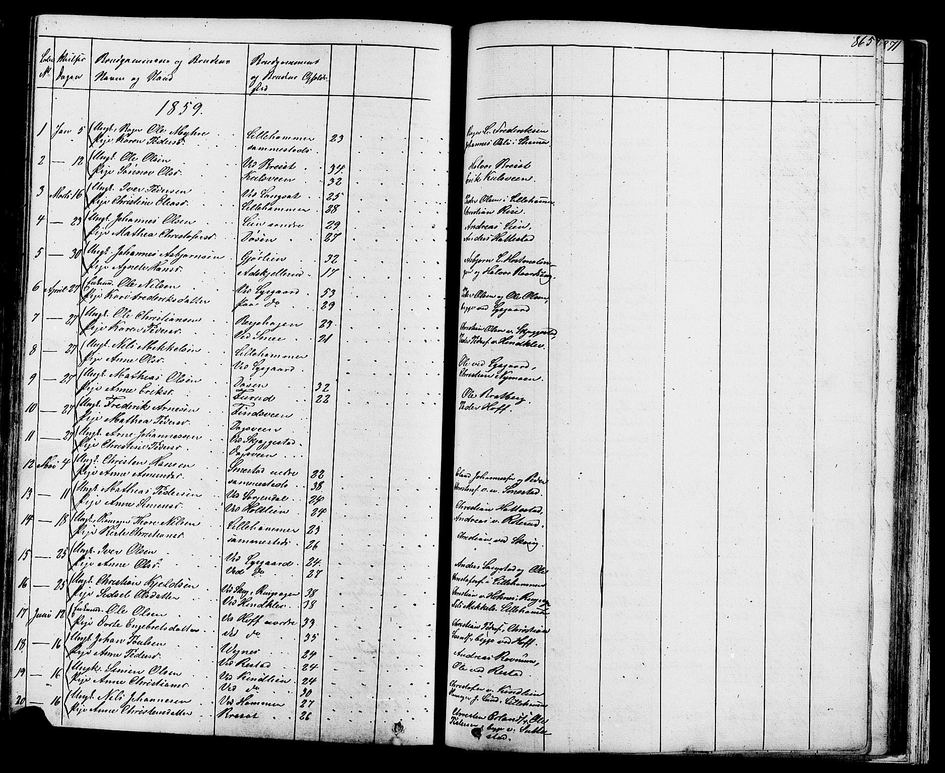 SAH, Fåberg prestekontor, Klokkerbok nr. 7, 1856-1891, s. 864-865