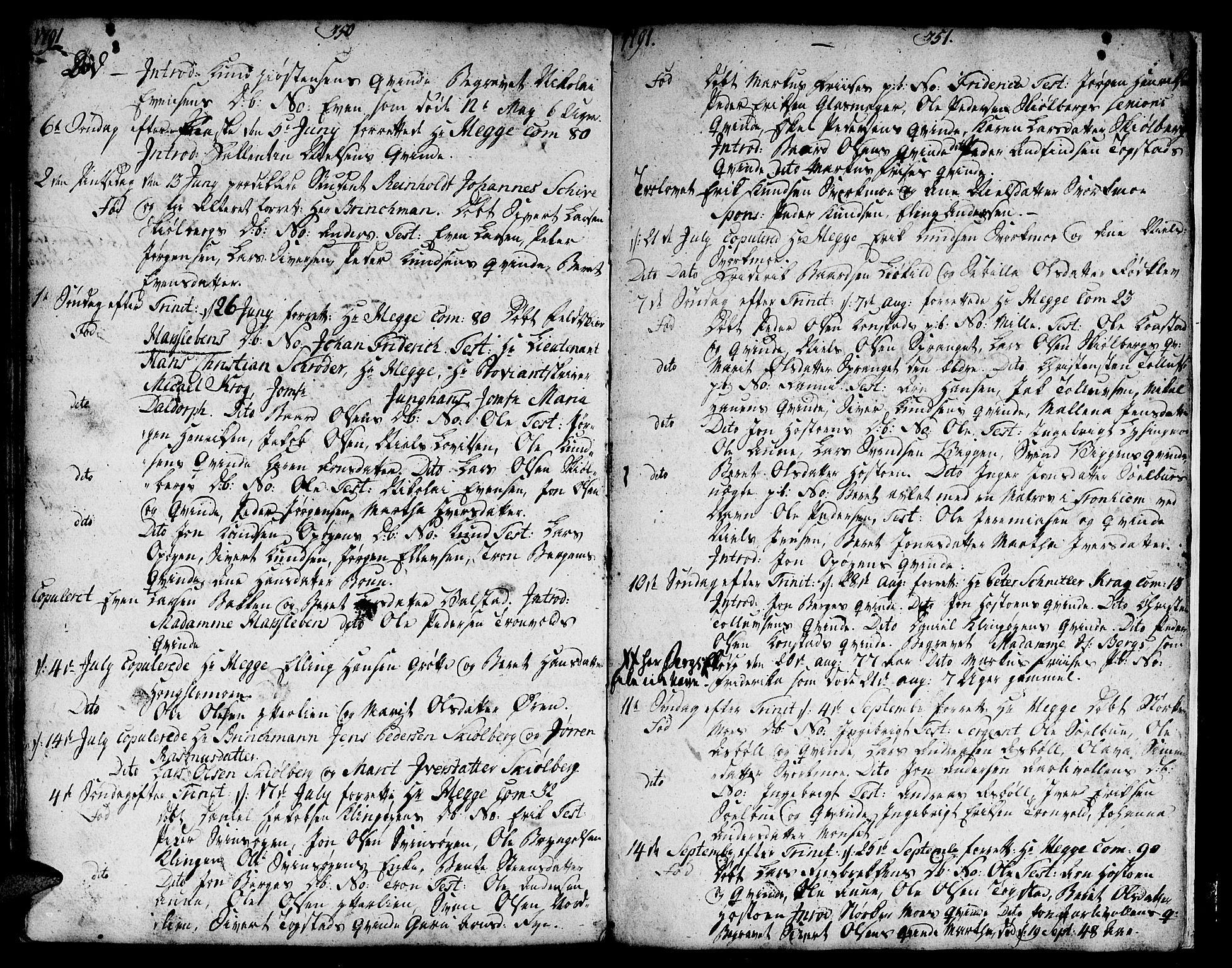 SAT, Ministerialprotokoller, klokkerbøker og fødselsregistre - Sør-Trøndelag, 671/L0840: Ministerialbok nr. 671A02, 1756-1794, s. 350-351