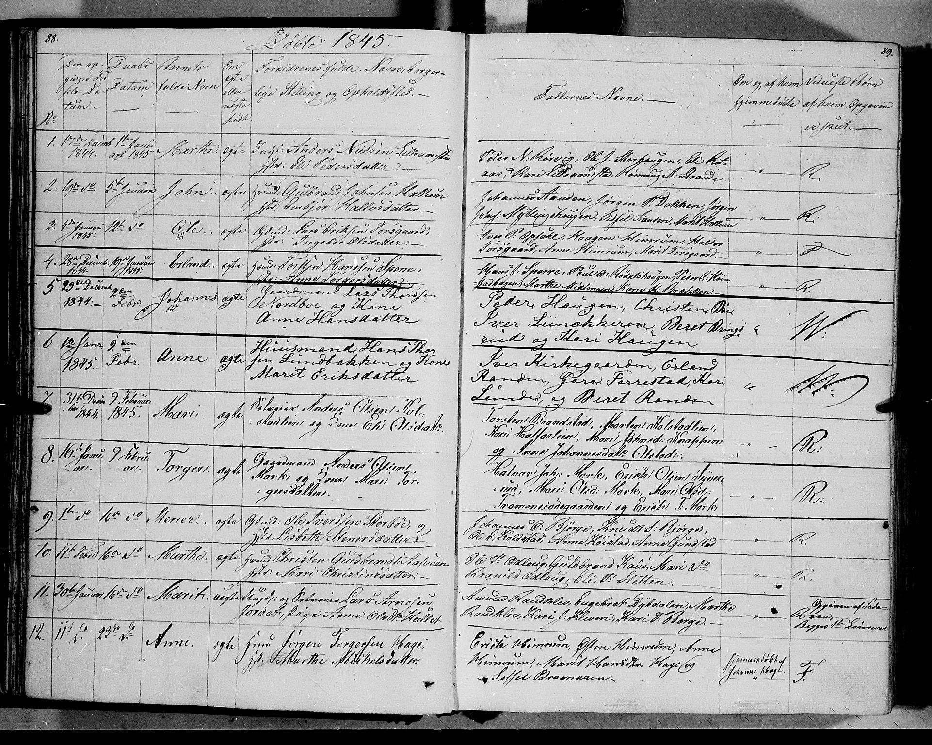 SAH, Ringebu prestekontor, Ministerialbok nr. 5, 1839-1848, s. 88-89