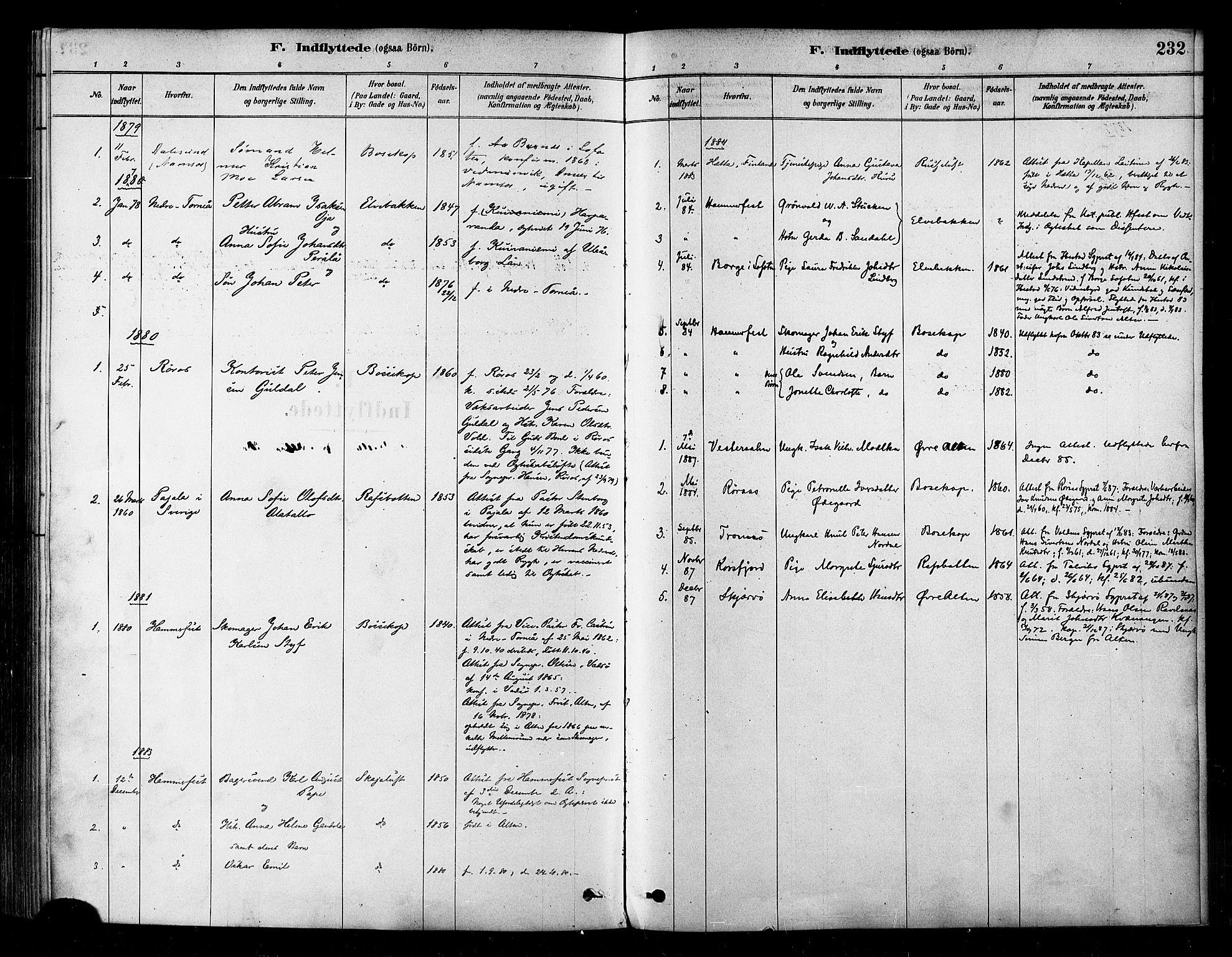 SATØ, Alta sokneprestembete, Ministerialbok nr. 2, 1879-1892, s. 232