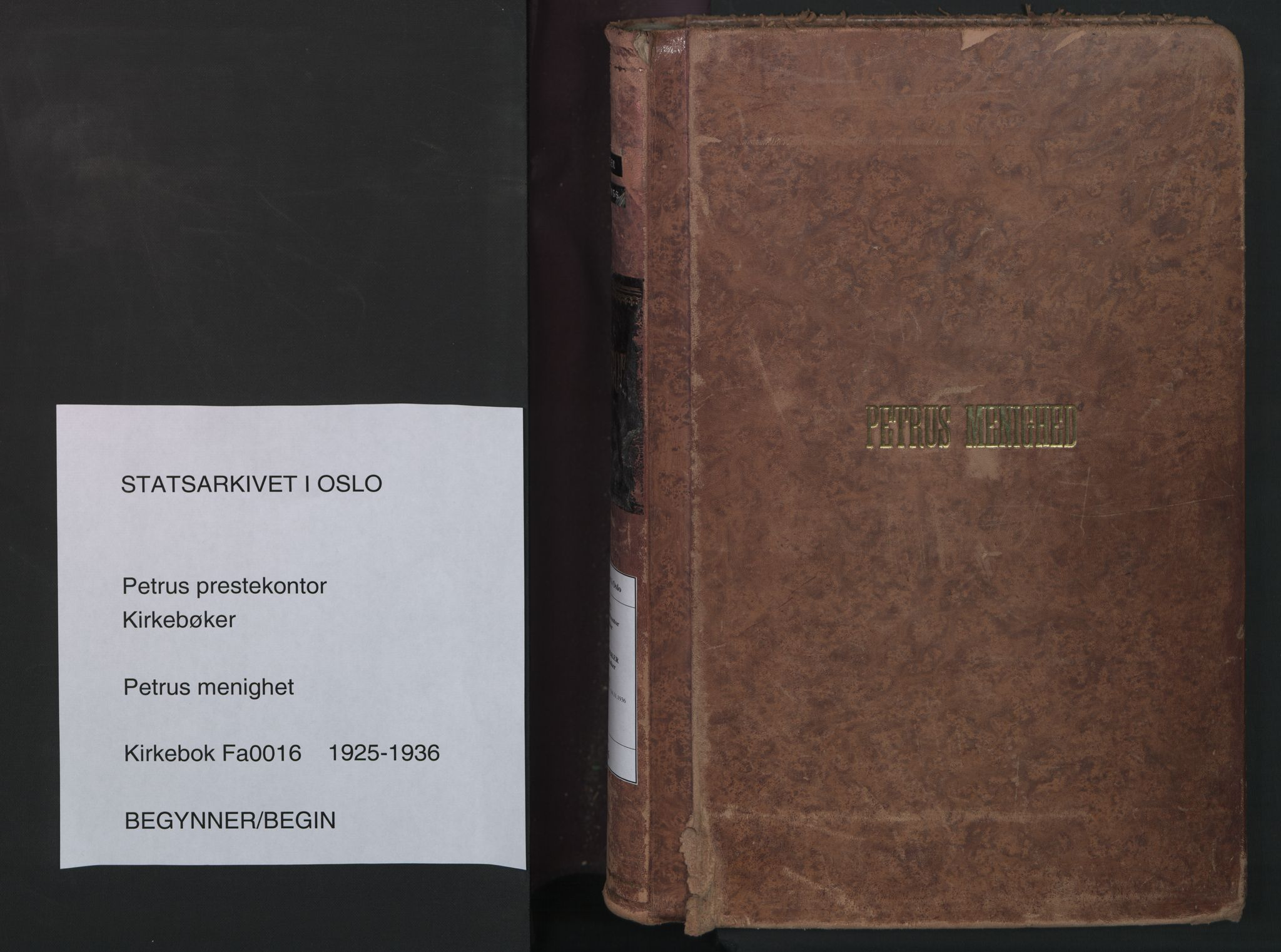 SAO, Petrus prestekontor Kirkebøker, F/Fa/L0016: Ministerialbok nr. 16, 1925-1936