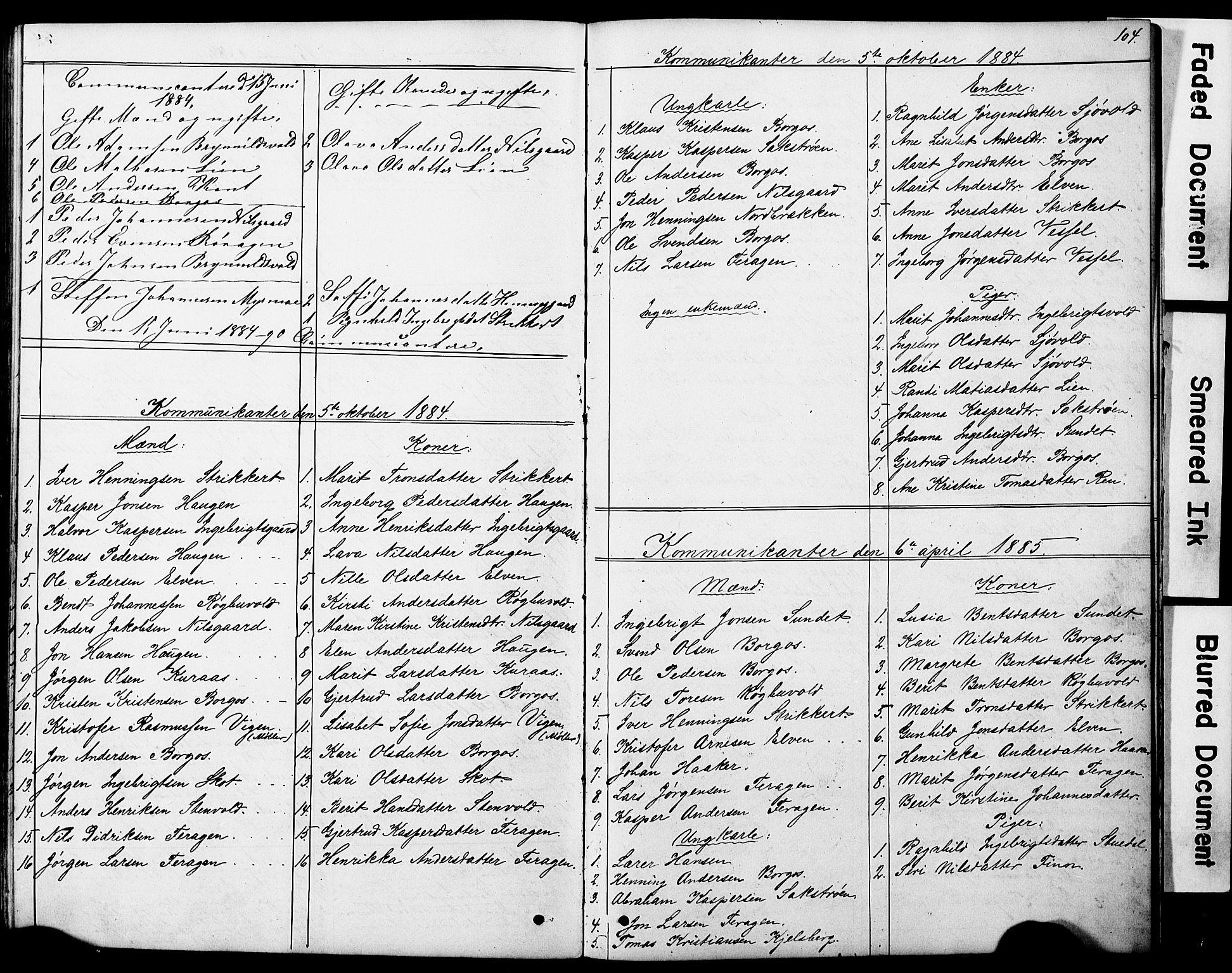 SAT, Ministerialprotokoller, klokkerbøker og fødselsregistre - Sør-Trøndelag, 683/L0949: Klokkerbok nr. 683C01, 1880-1896, s. 104
