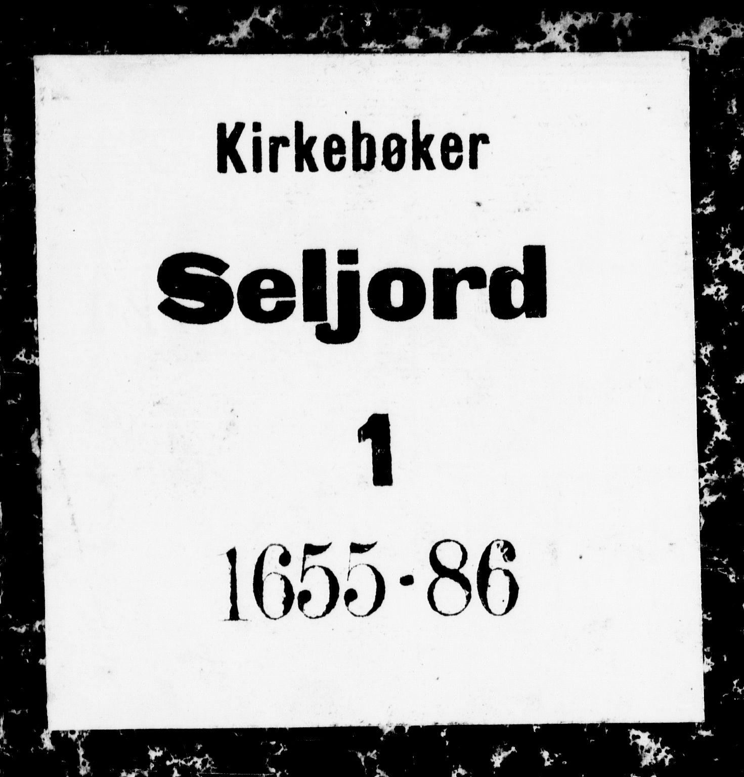 SAKO, Seljord kirkebøker, F/Fa/L0001: Ministerialbok nr. I 1, 1654-1686