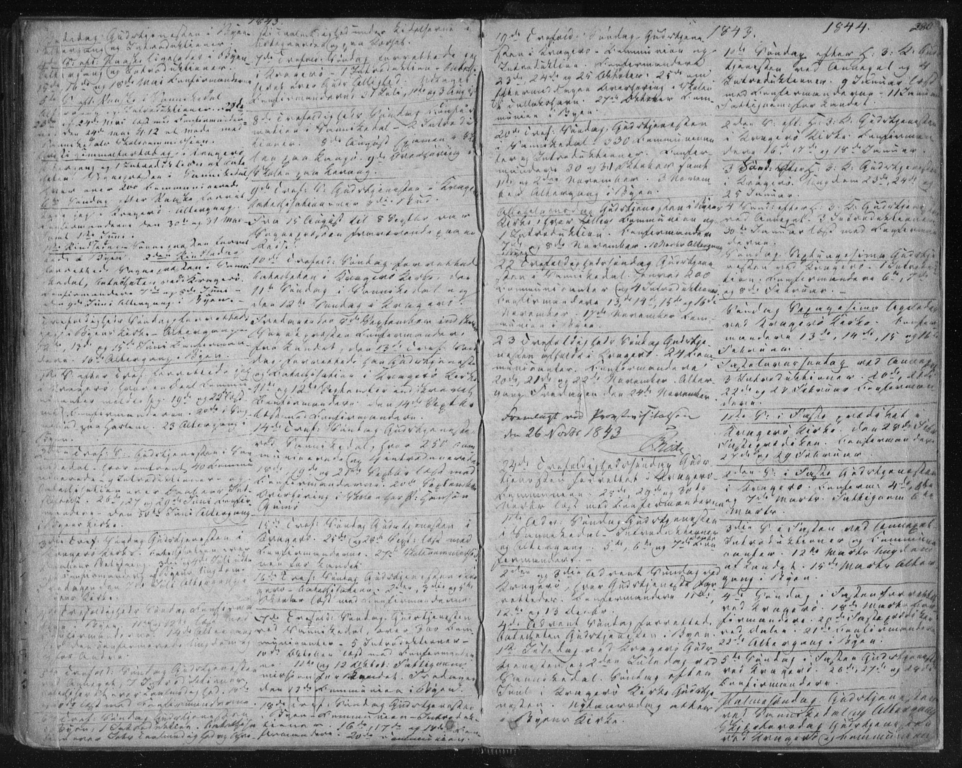 SAKO, Kragerø kirkebøker, F/Fa/L0005: Ministerialbok nr. 5, 1832-1847, s. 280
