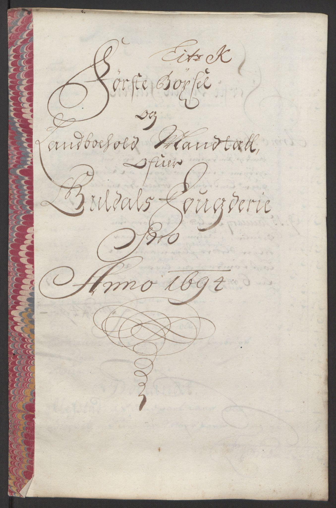 RA, Rentekammeret inntil 1814, Reviderte regnskaper, Fogderegnskap, R60/L3944: Fogderegnskap Orkdal og Gauldal, 1694, s. 386
