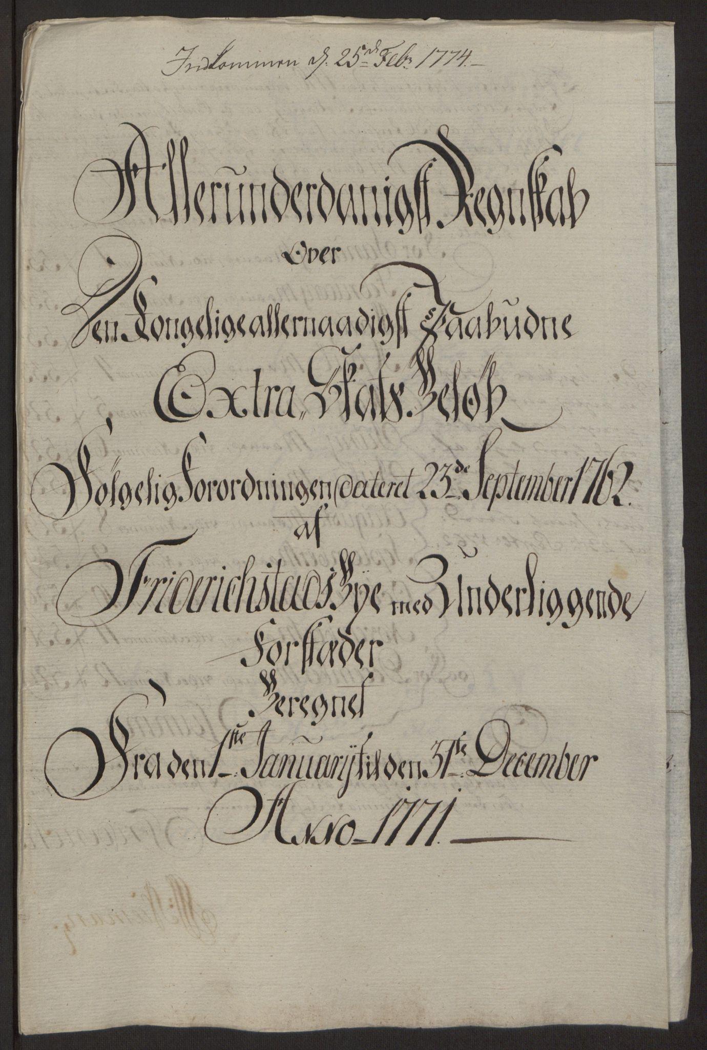 RA, Rentekammeret inntil 1814, Reviderte regnskaper, Byregnskaper, R/Rb/L0029: [B3] Kontribusjonsregnskap, 1762-1772, s. 372