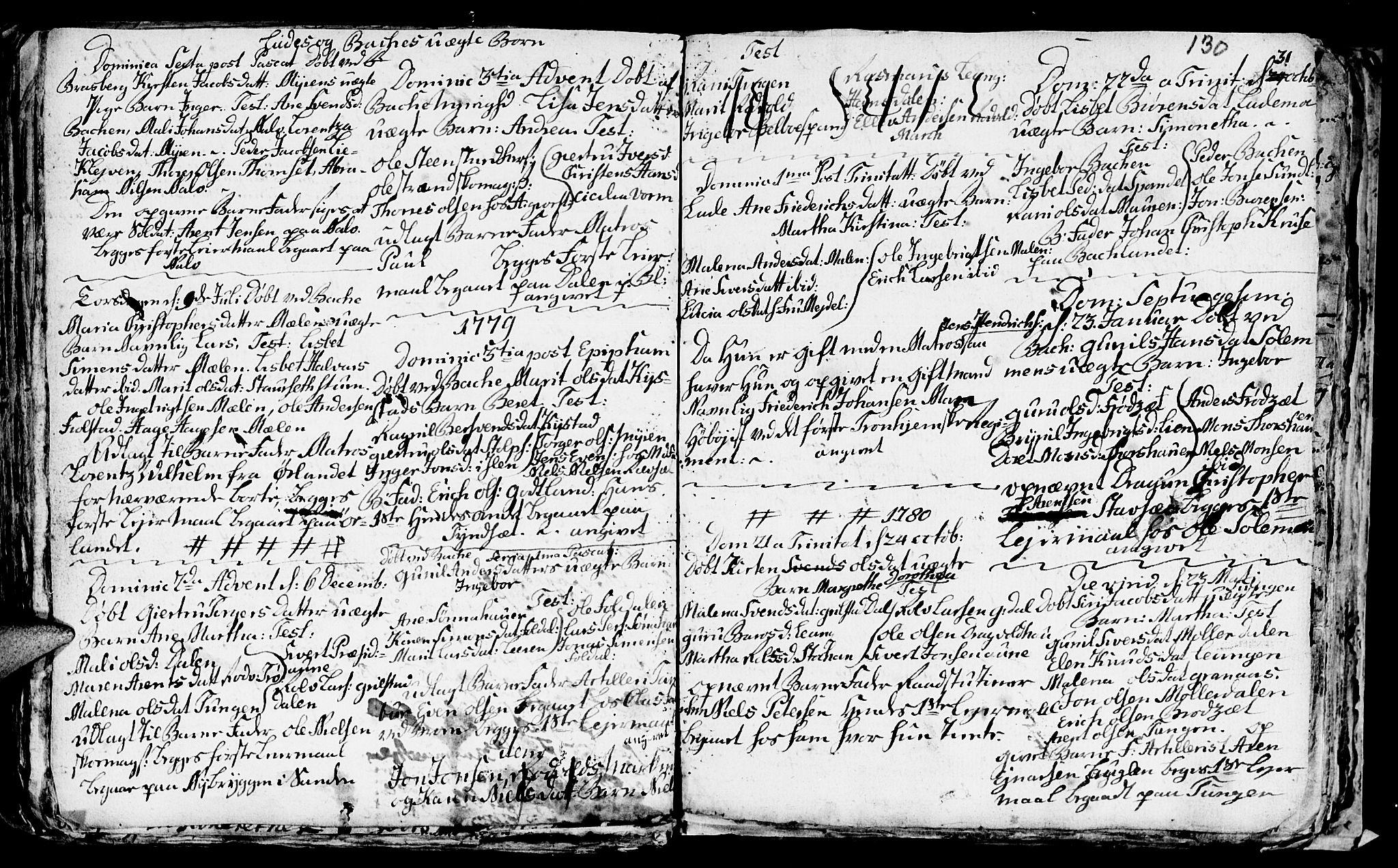 SAT, Ministerialprotokoller, klokkerbøker og fødselsregistre - Sør-Trøndelag, 606/L0305: Klokkerbok nr. 606C01, 1757-1819, s. 130