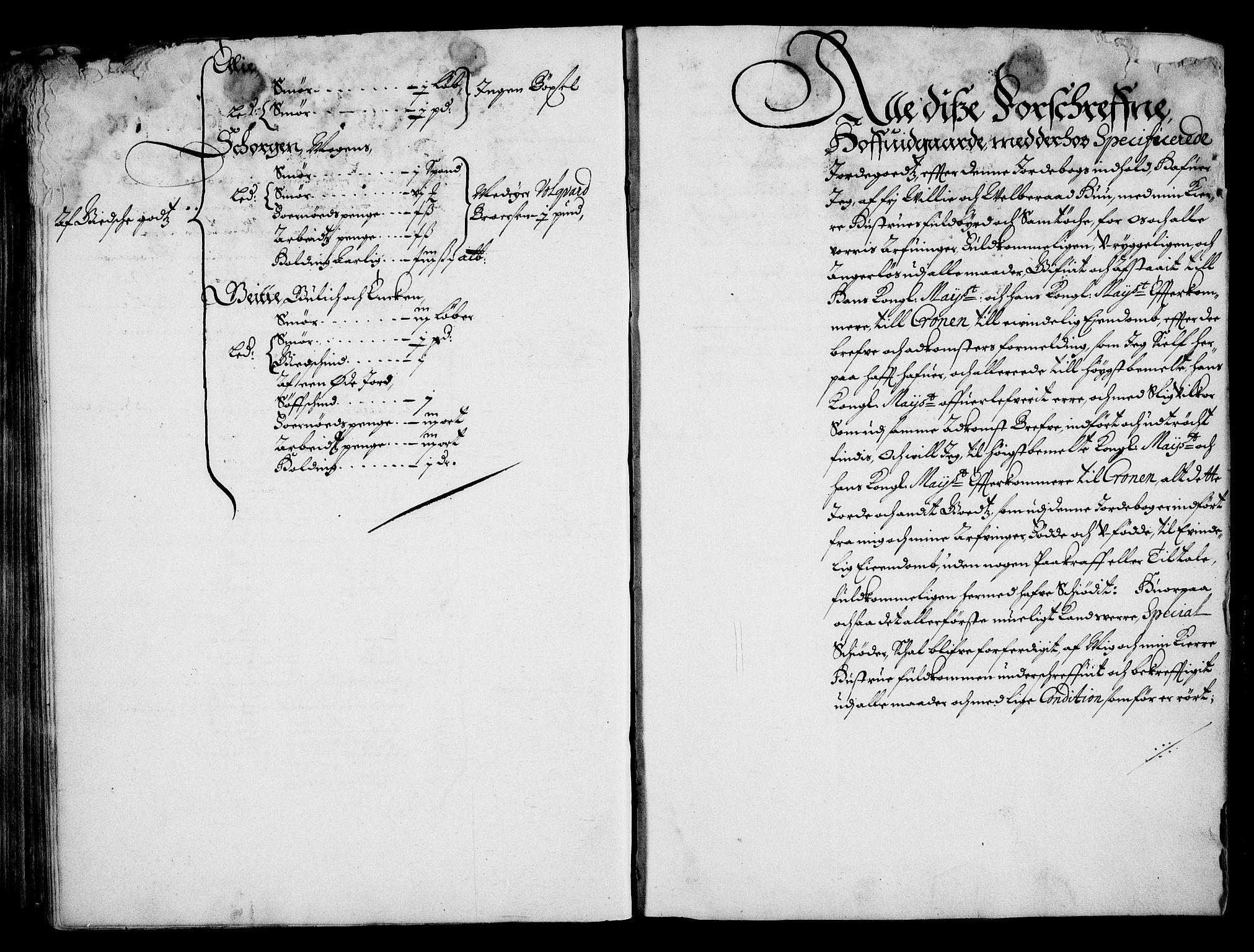 RA, Rentekammeret inntil 1814, Realistisk ordnet avdeling, On/L0001: Statens gods, 1651, s. 229