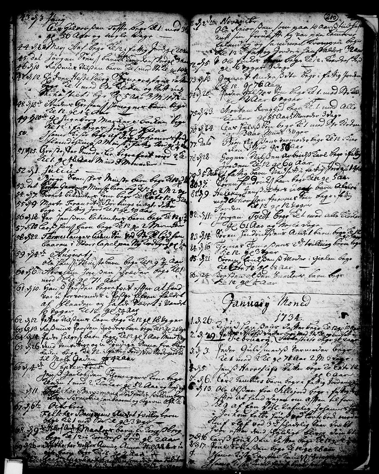 SAKO, Skien kirkebøker, F/Fa/L0002: Ministerialbok nr. 2, 1716-1757, s. 200