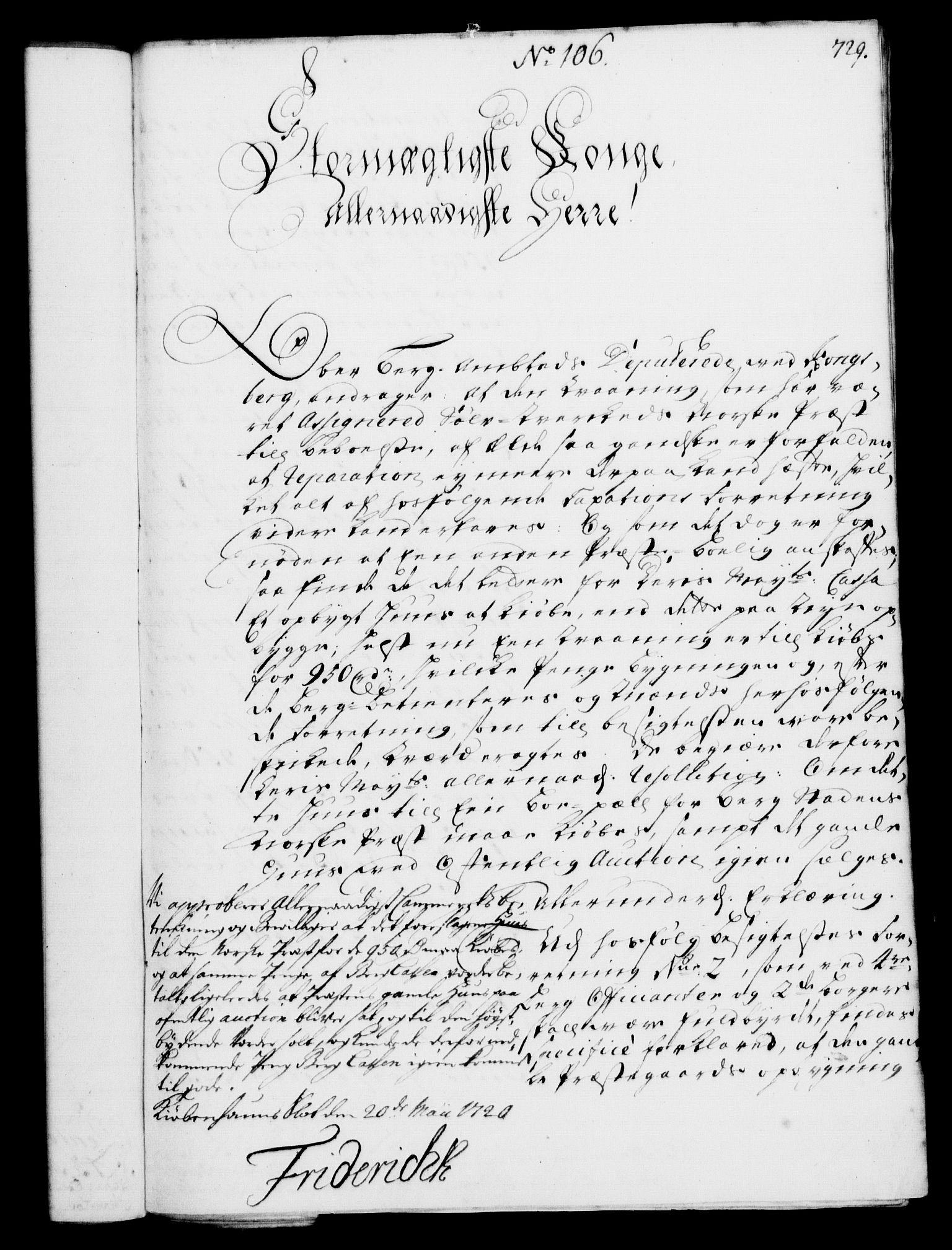 RA, Rentekammeret, Kammerkanselliet, G/Gf/Gfa/L0002: Norsk relasjons- og resolusjonsprotokoll (merket RK 52.2), 1720, s. 702