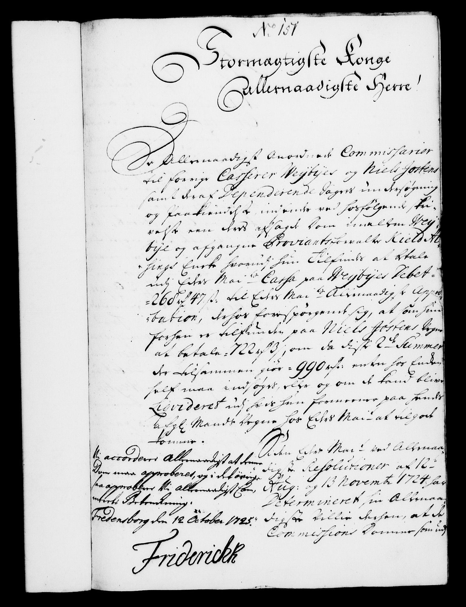 RA, Rentekammeret, Kammerkanselliet, G/Gf/Gfa/L0008: Norsk relasjons- og resolusjonsprotokoll (merket RK 52.8), 1725, s. 829