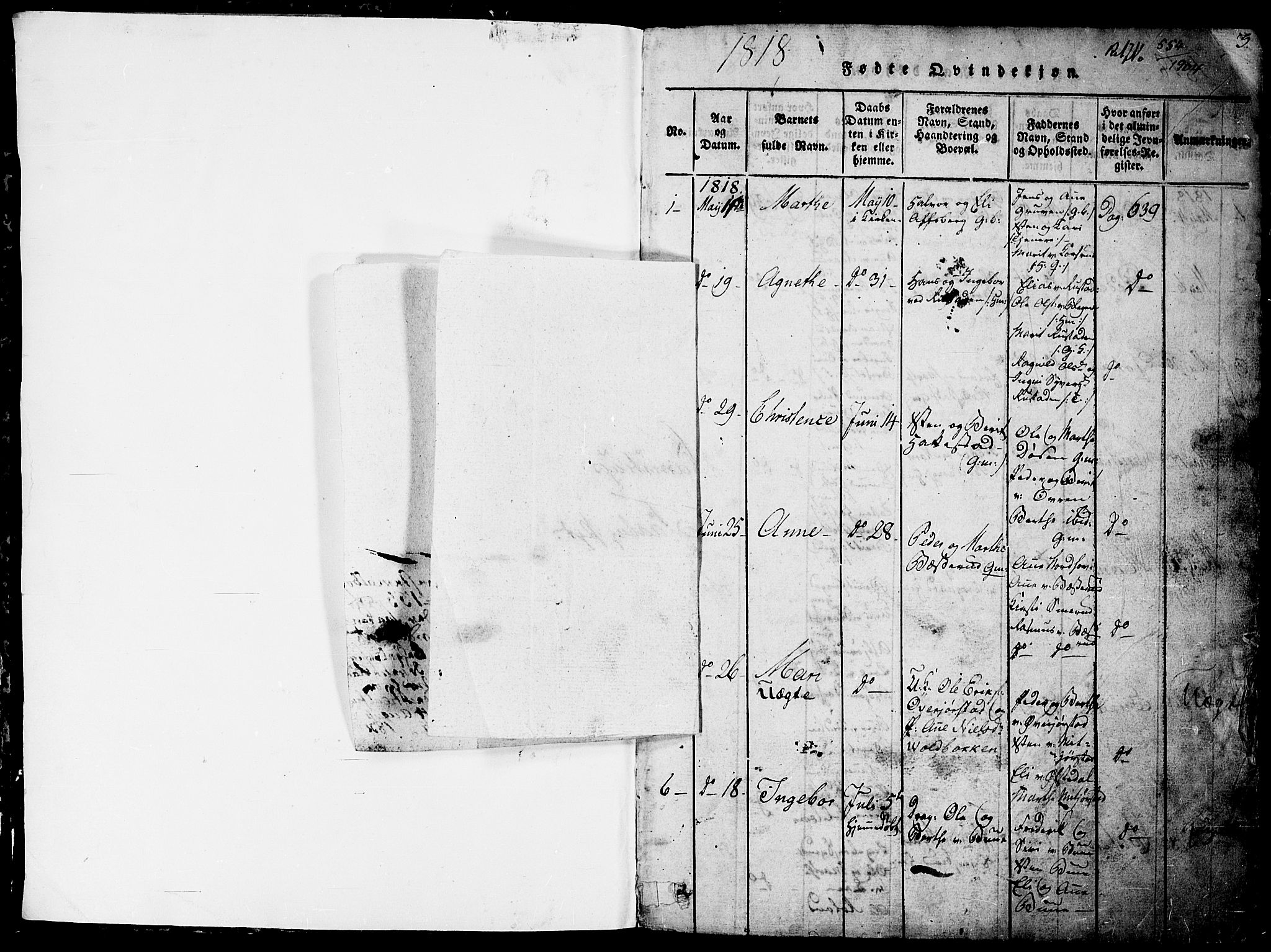 SAH, Fåberg prestekontor, Klokkerbok nr. 4, 1818-1837, s. 0-1