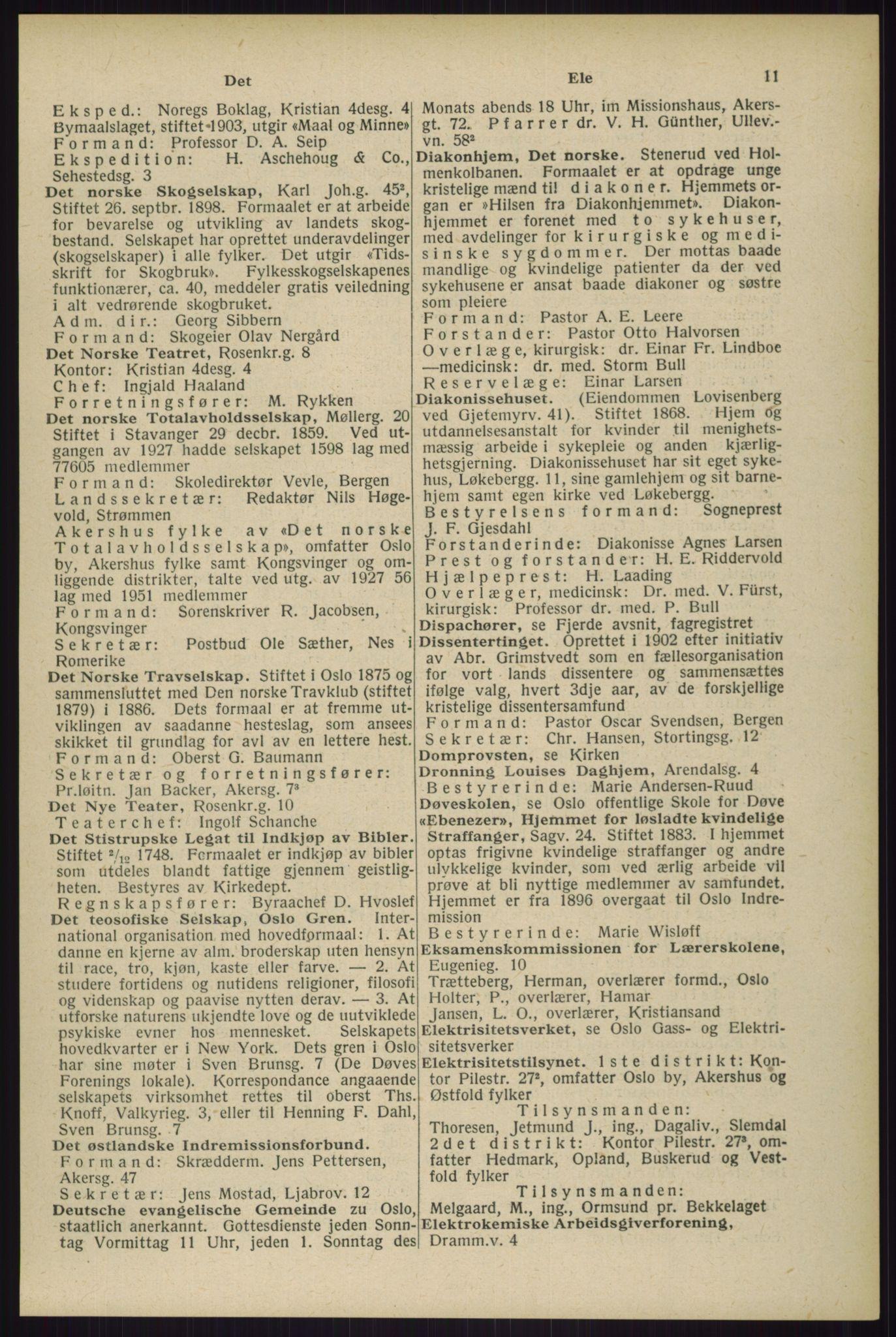 RA, Oslo adressebok (publikasjon)*, 1929, s. 11