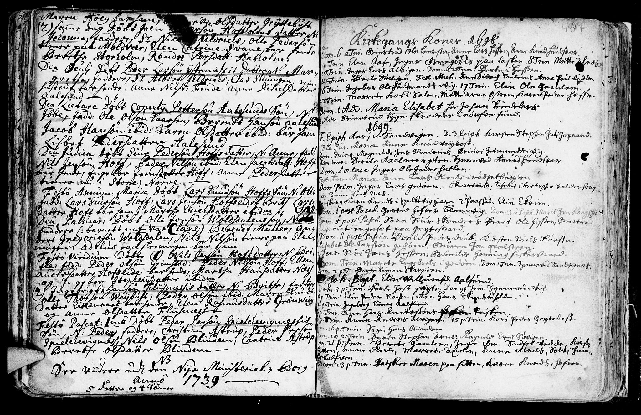 SAT, Ministerialprotokoller, klokkerbøker og fødselsregistre - Møre og Romsdal, 528/L0390: Ministerialbok nr. 528A01, 1698-1739, s. 436-437