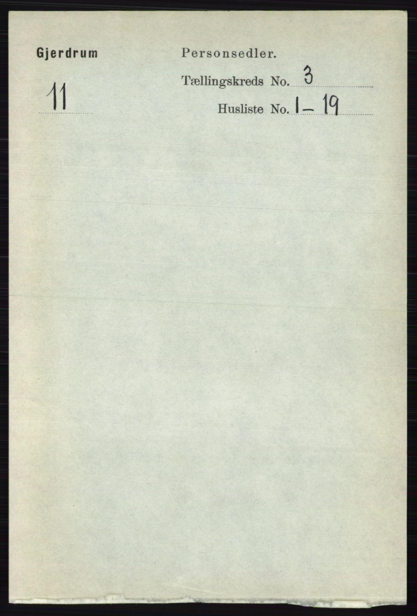 RA, Folketelling 1891 for 0234 Gjerdrum herred, 1891, s. 1251
