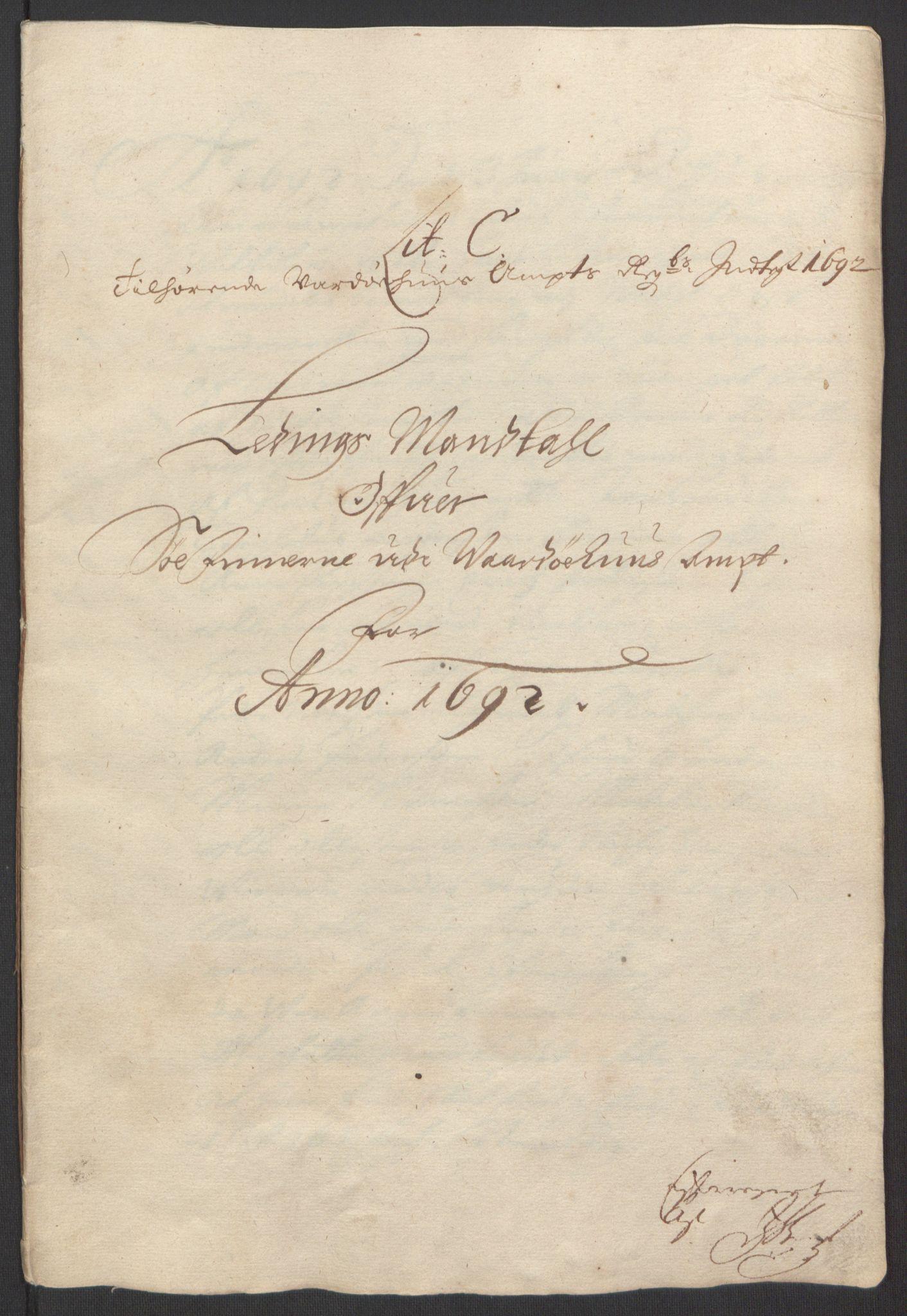 RA, Rentekammeret inntil 1814, Reviderte regnskaper, Fogderegnskap, R69/L4851: Fogderegnskap Finnmark/Vardøhus, 1691-1700, s. 160
