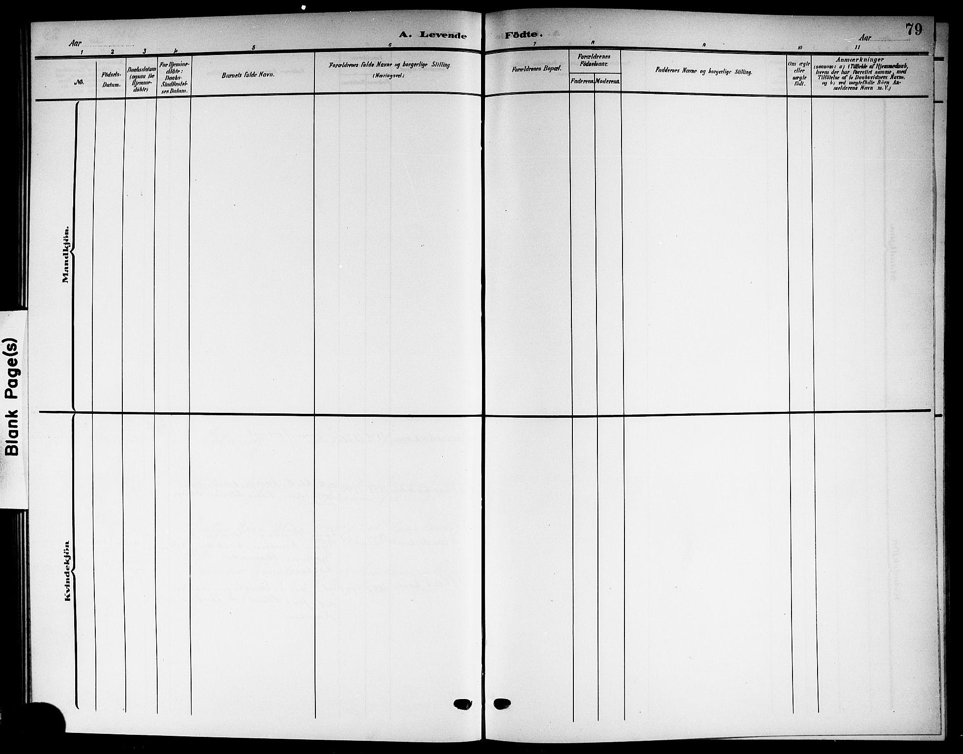 SAKO, Solum kirkebøker, G/Gb/L0005: Klokkerbok nr. II 5, 1905-1914, s. 79