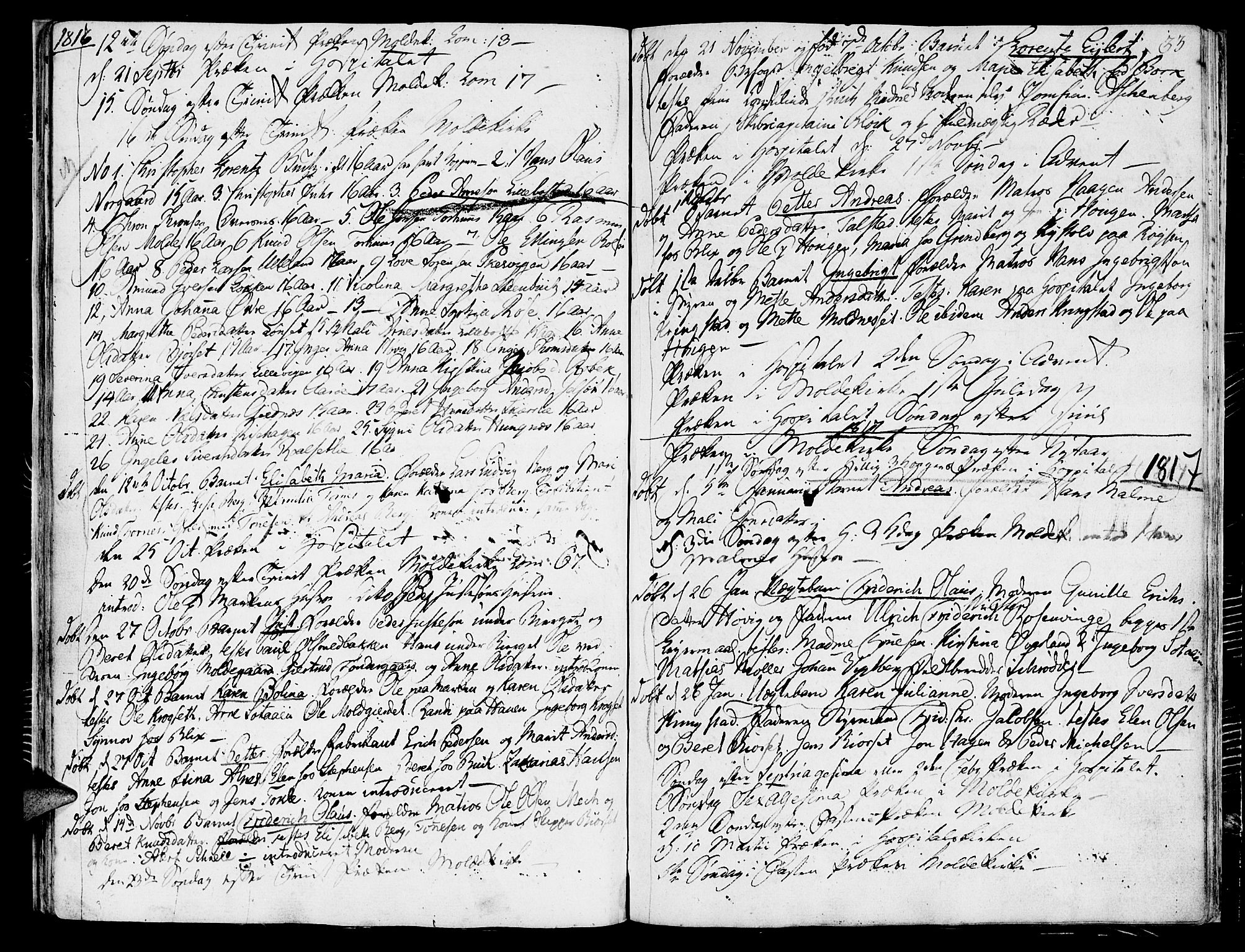 SAT, Ministerialprotokoller, klokkerbøker og fødselsregistre - Møre og Romsdal, 558/L0687: Ministerialbok nr. 558A01, 1798-1818, s. 33