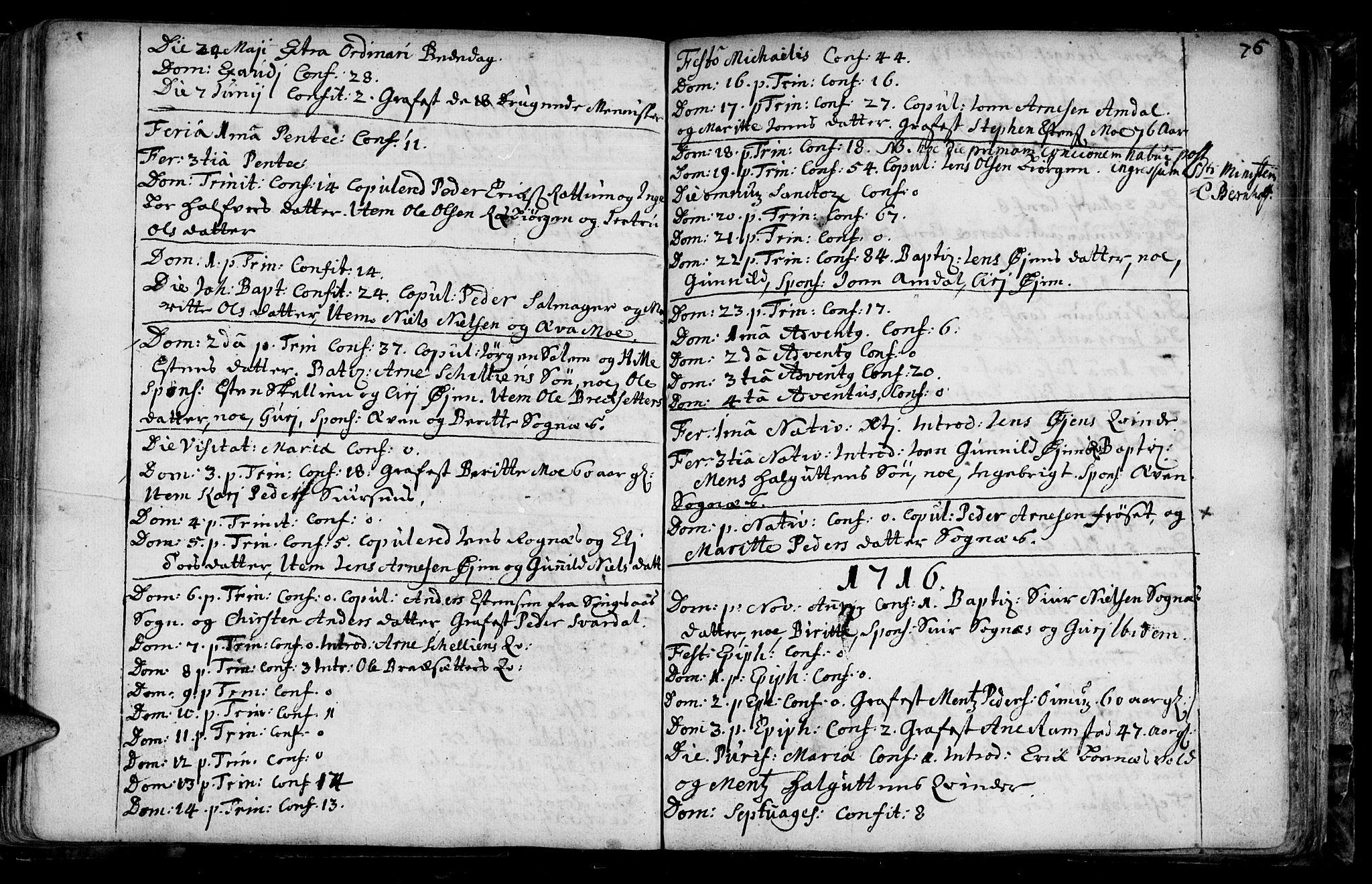 SAT, Ministerialprotokoller, klokkerbøker og fødselsregistre - Sør-Trøndelag, 687/L0990: Ministerialbok nr. 687A01, 1690-1746, s. 76